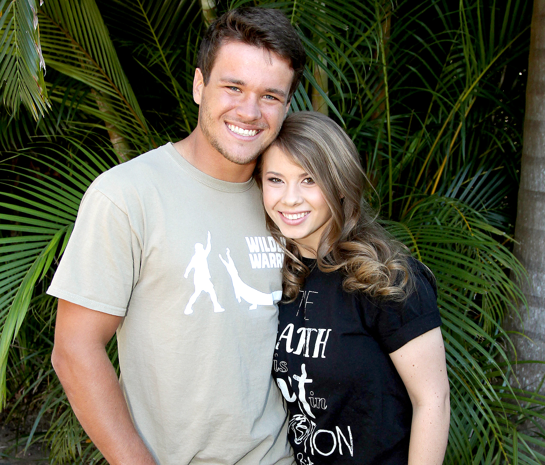 Bindi Irwin pictured at Australia Zoo for her 18th Birthday celebrations with her boyfriend Chandler Powell on July 24, 2016 in Queensland, Australia.
