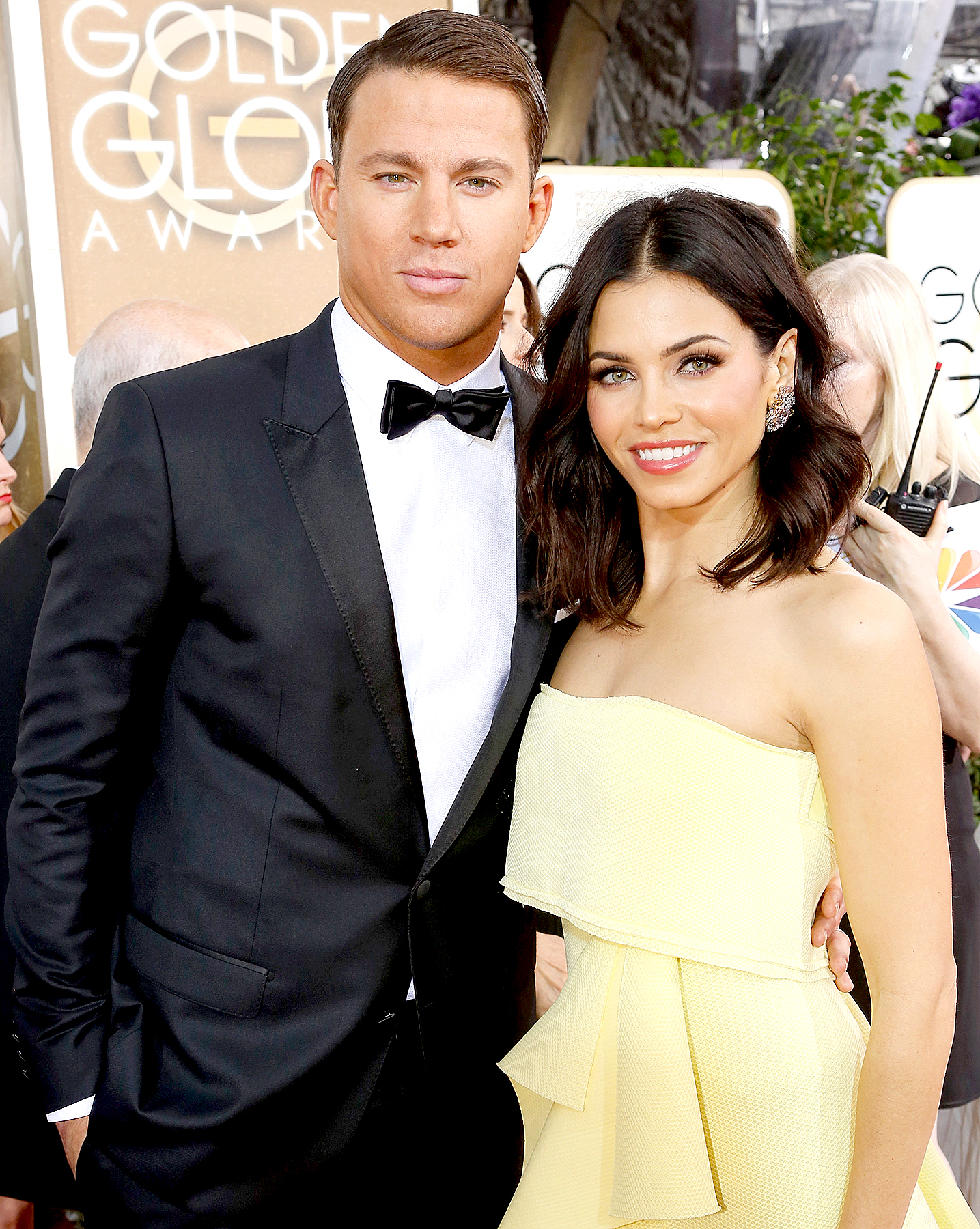 Channing Tatum and Jenna Dewan arrive to the 72nd Annual Golden Globe Awards held at the Beverly Hilton Hotel on January 11, 2015.