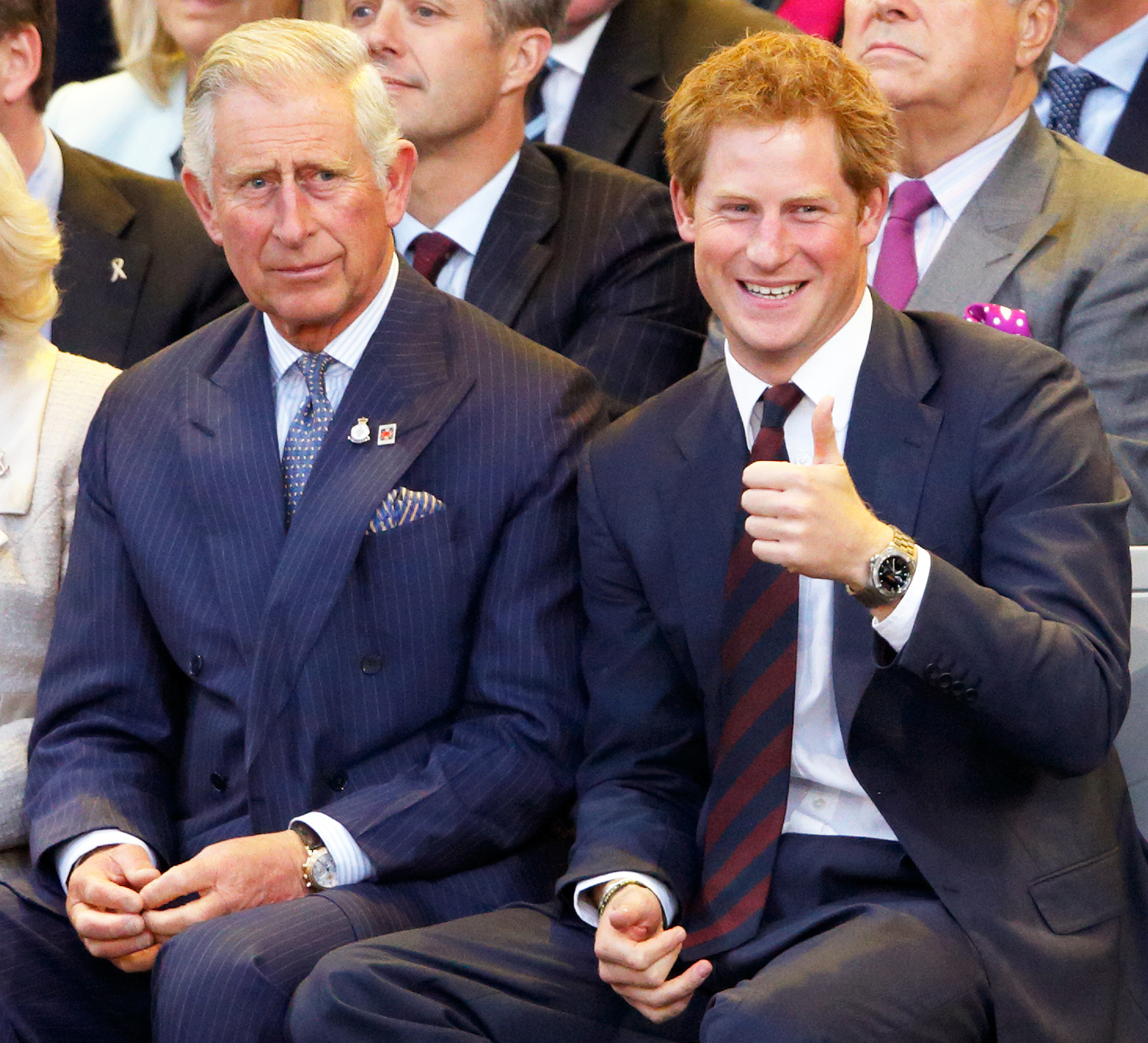Prince Charles, Prince of Wales and Prince Harry attend the Opening Ceremony of the Invictus Games at the Queen Elizabeth Olympic Park on September 10, 2014 in London, England.