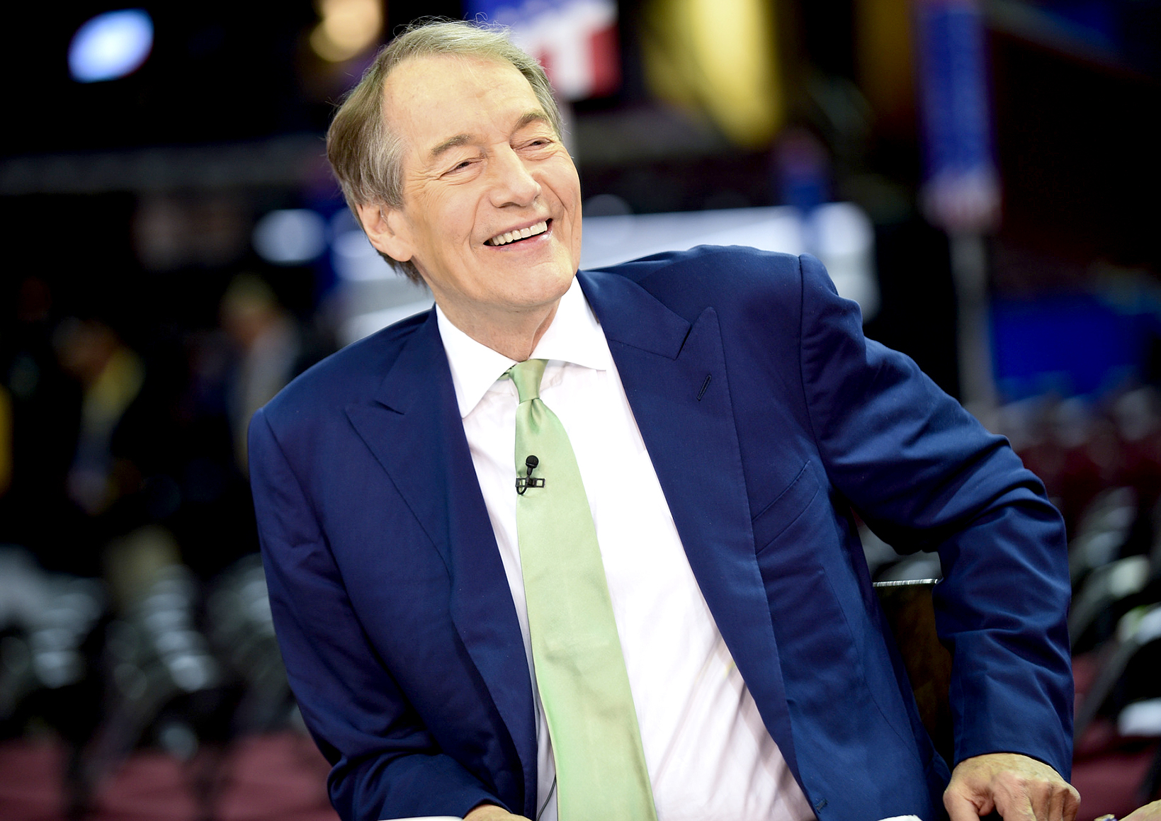 Charlie Rose at the 2016 Republican National Convention in Cleveland, Ohio on Wednesday, July 20, 2016.