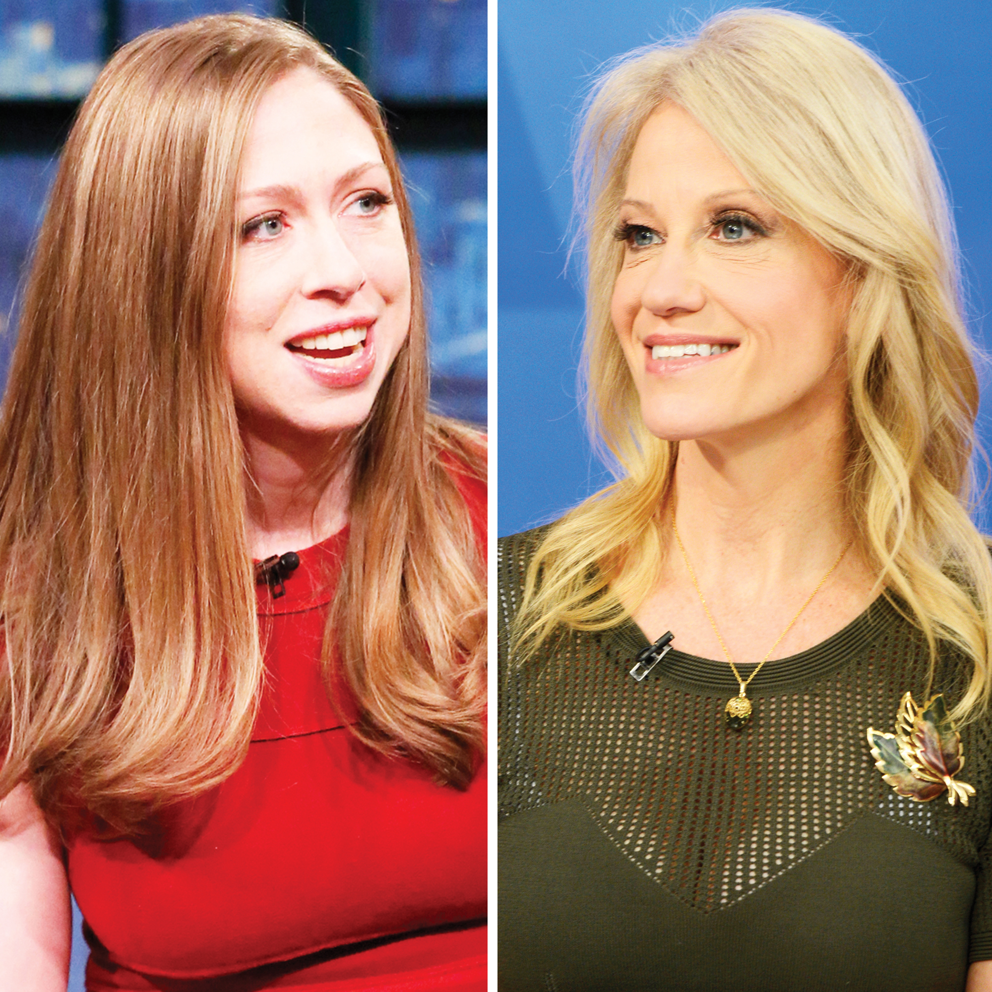 Chelsea Clinton and Kellyanne Conway