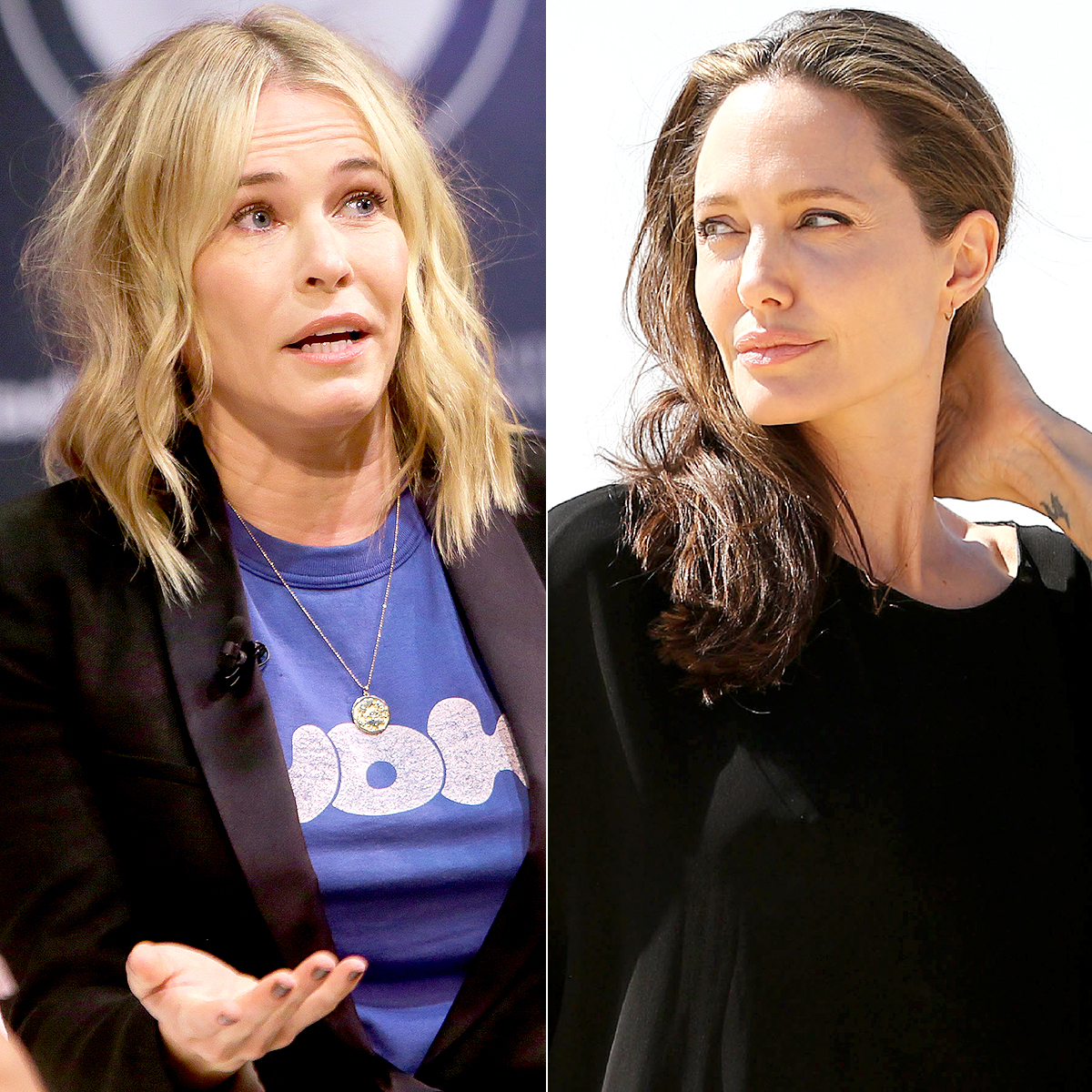 Chelsea Handler and Angelina Jolie Page 1700