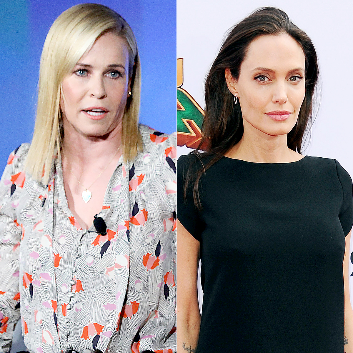 Chelsea Handler and Angelina Jolie