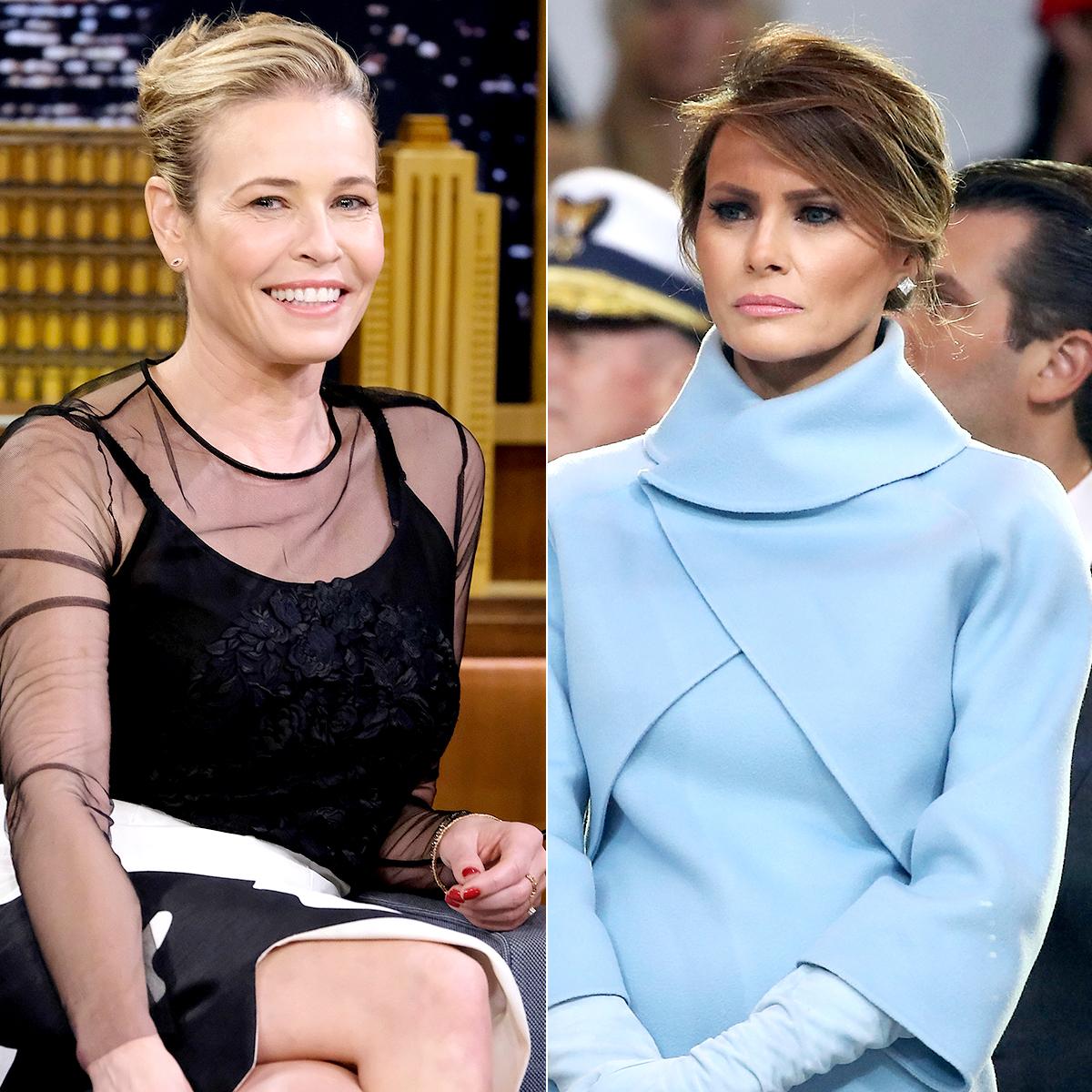 Chelsea Handler and Melania Trump