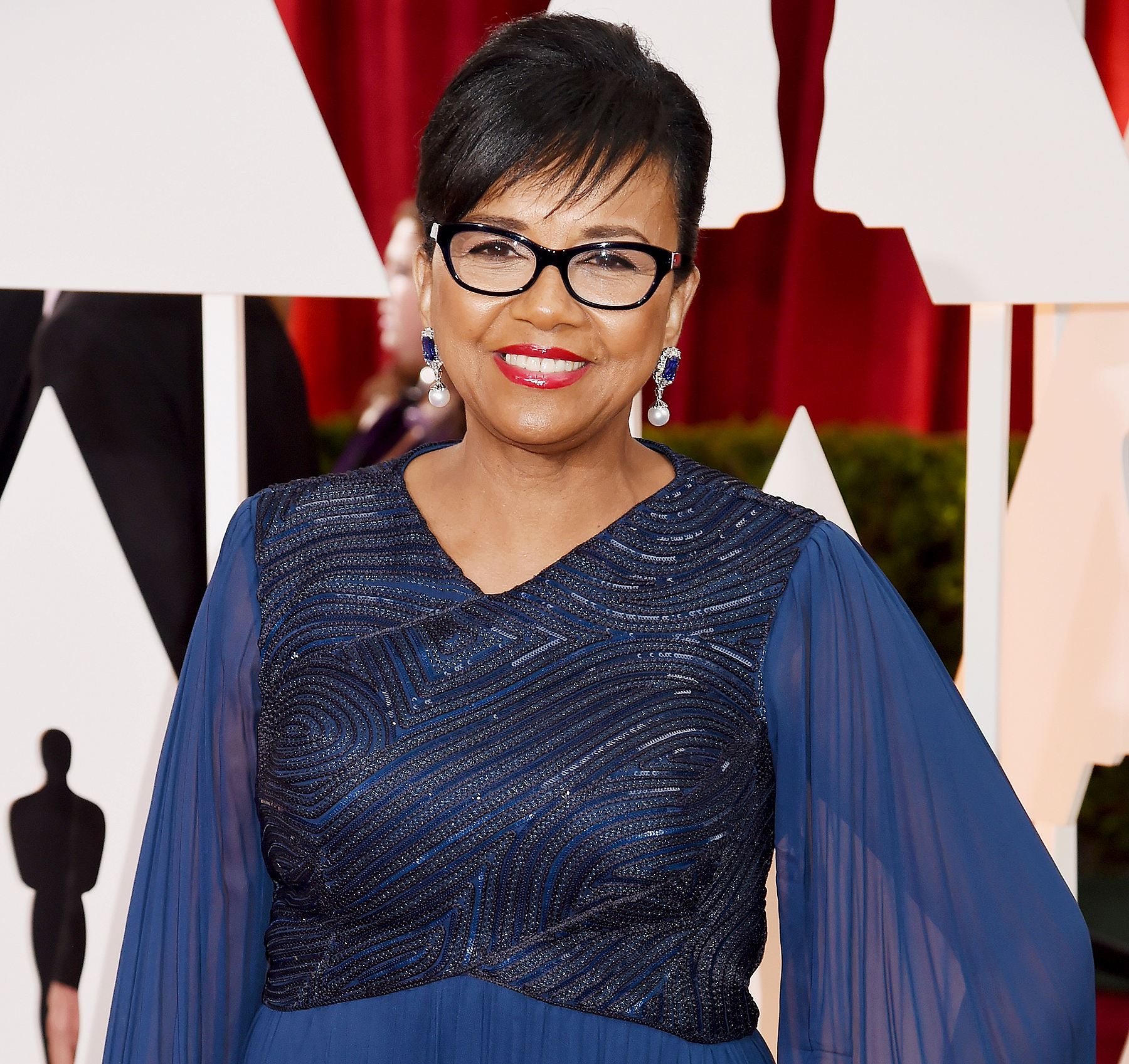 President of AMPAS Cheryl Boone Isaacs attends the 87th Annual Academy Awards.