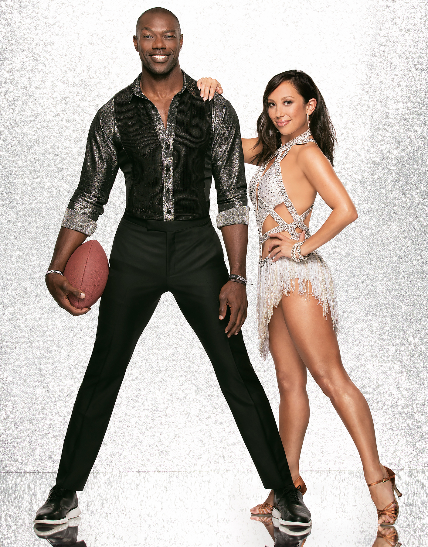 Terrell Owens and Cheryl Burke