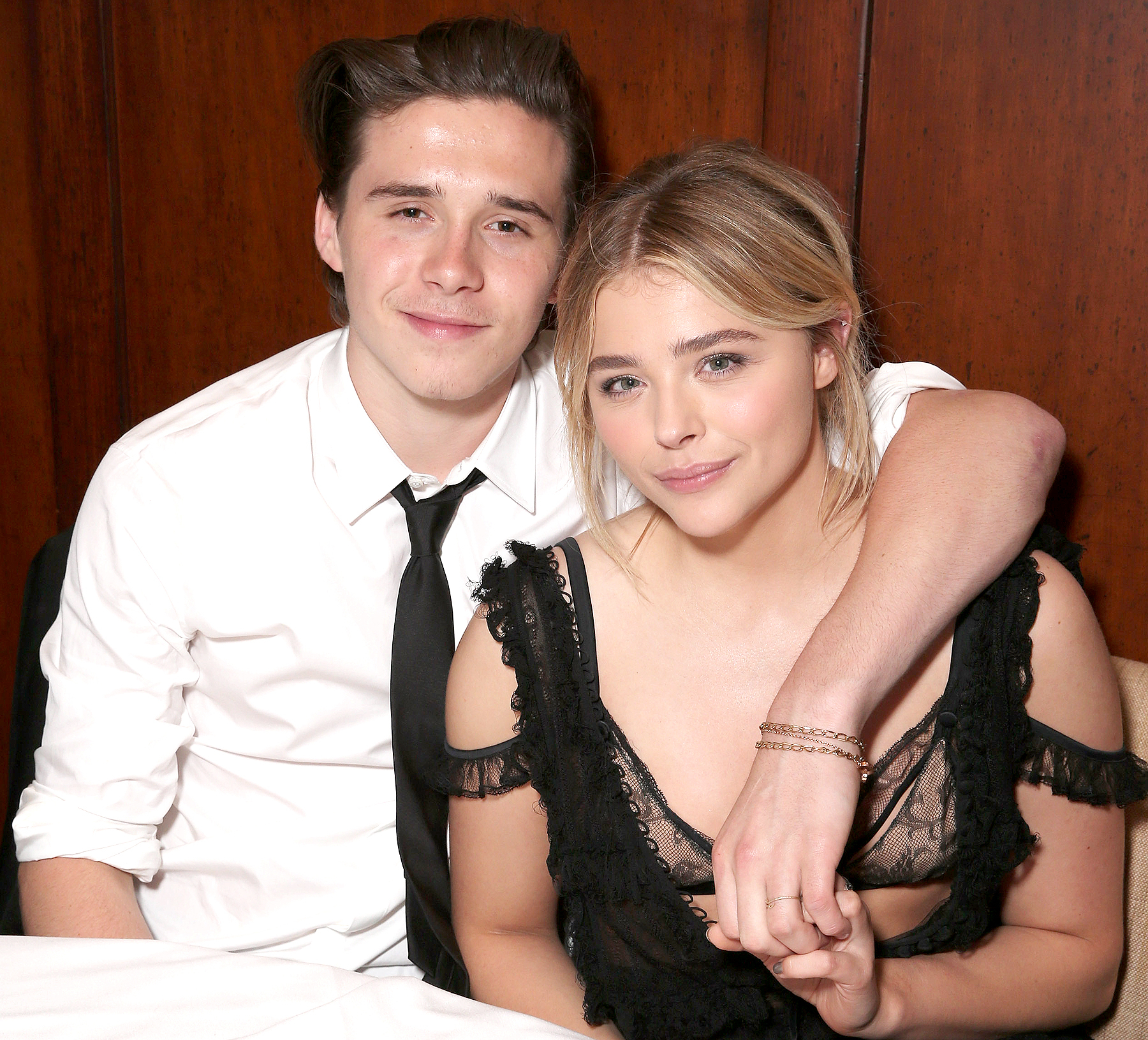 "Brooklyn Beckham and Chloe Grace Moretz attend the after party for the premiere of Universal Pictures' ""Neighbors 2: Sorority Rising"" on May 16, 2016 in Los Angeles, California."