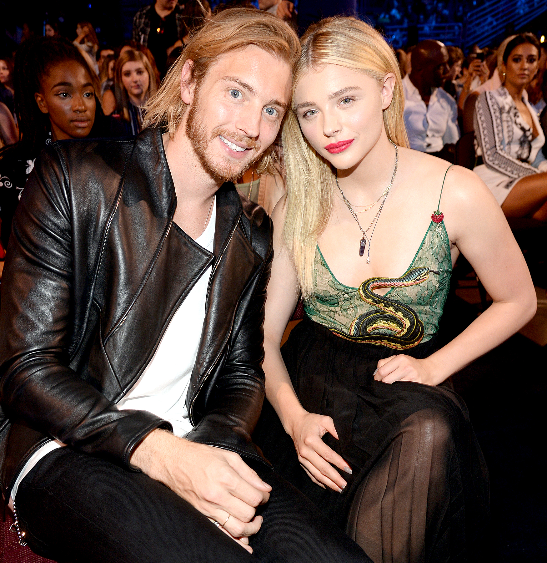 Trevor Duke Moretz and Chloe Grace Moretz attend the Teen Choice Awards 2015.