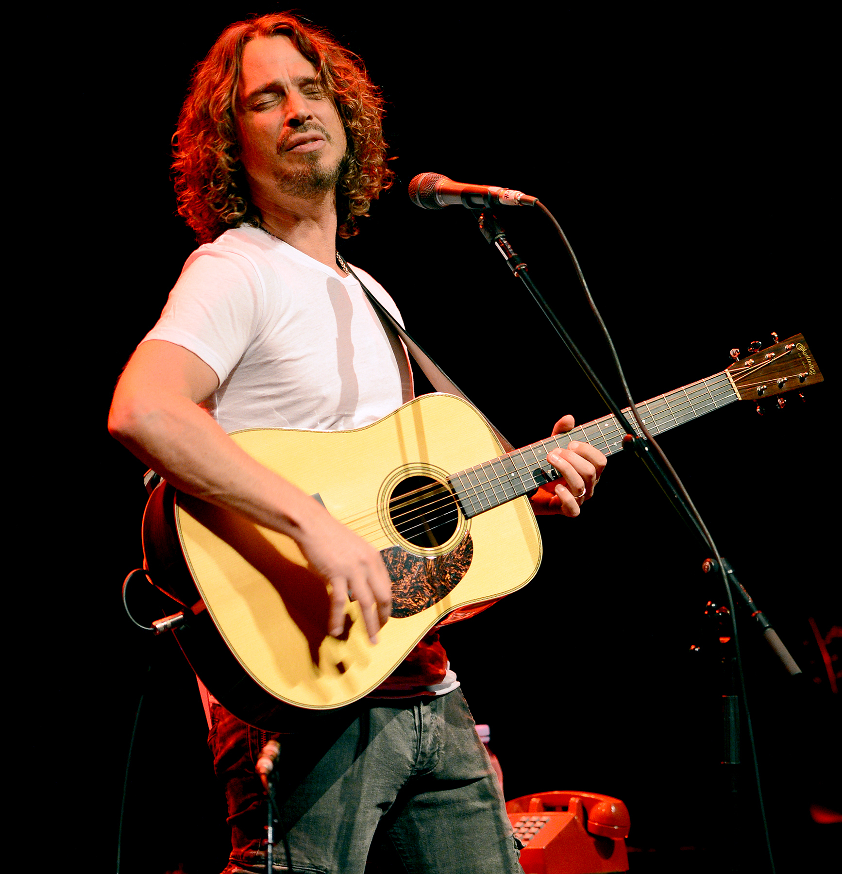 Chris Cornell performs at the Fillmore in Miami Beach in 2012.