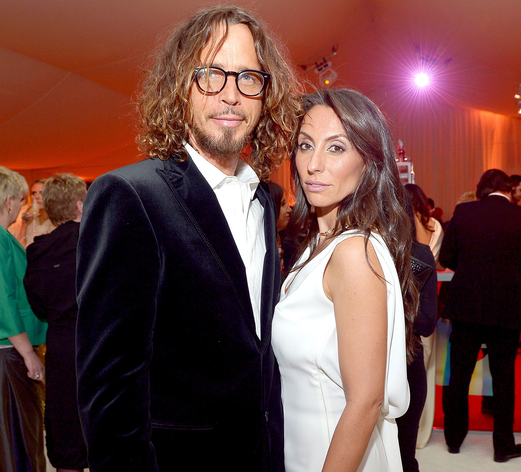 Chris Cornell and Vicky Cornell attend Neuro at 21st Annual Elton John AIDS Foundation Academy Awards Viewing Party at West Hollywood Park on February 24, 2013.