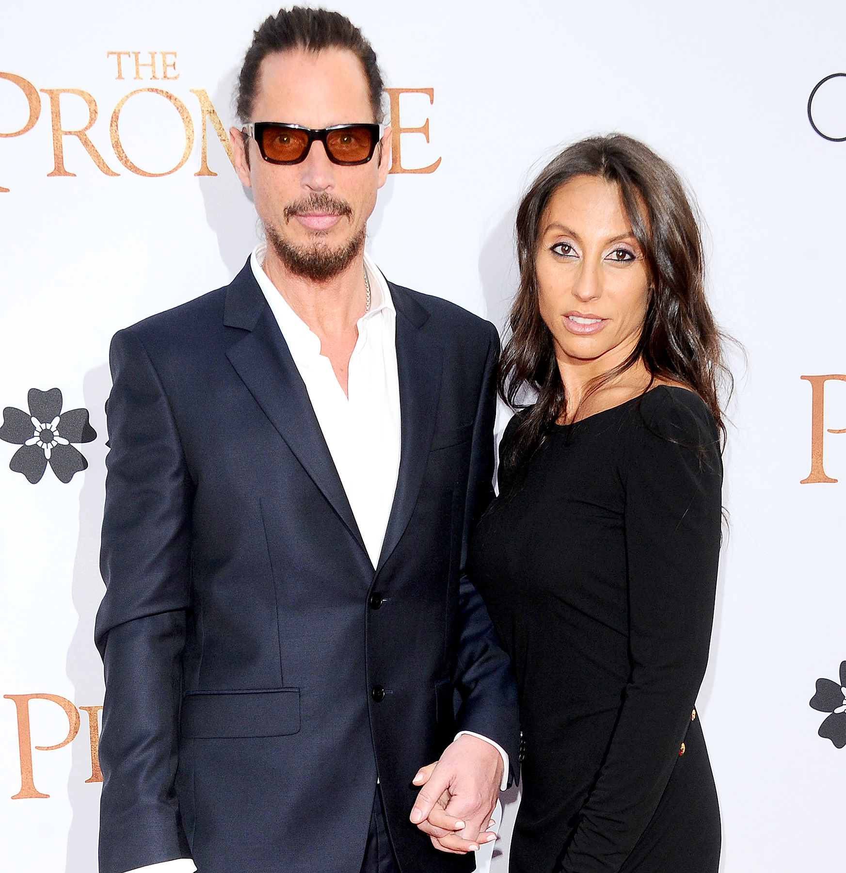 Chris Cornell and Vicky Karayiannis at the Los Angeles Premiere of The Promise at TCL Chinese Theatre on April 12, 2017.