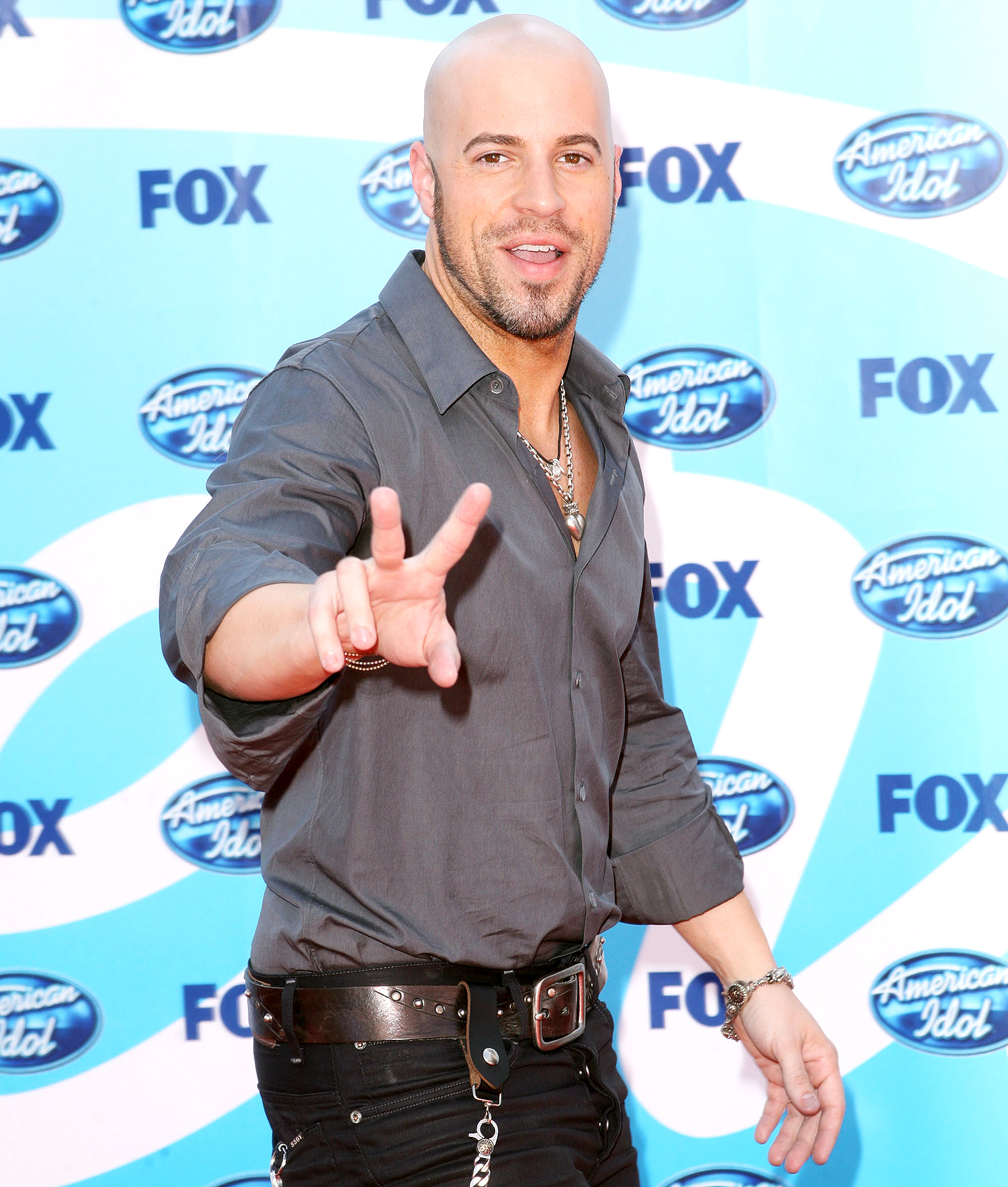 Chris Daughtry arrives at the American Idol Season 8 Grand Finale held at Nokia Theatre L.A. Live on May 20, 2009 in Los Angeles, California.