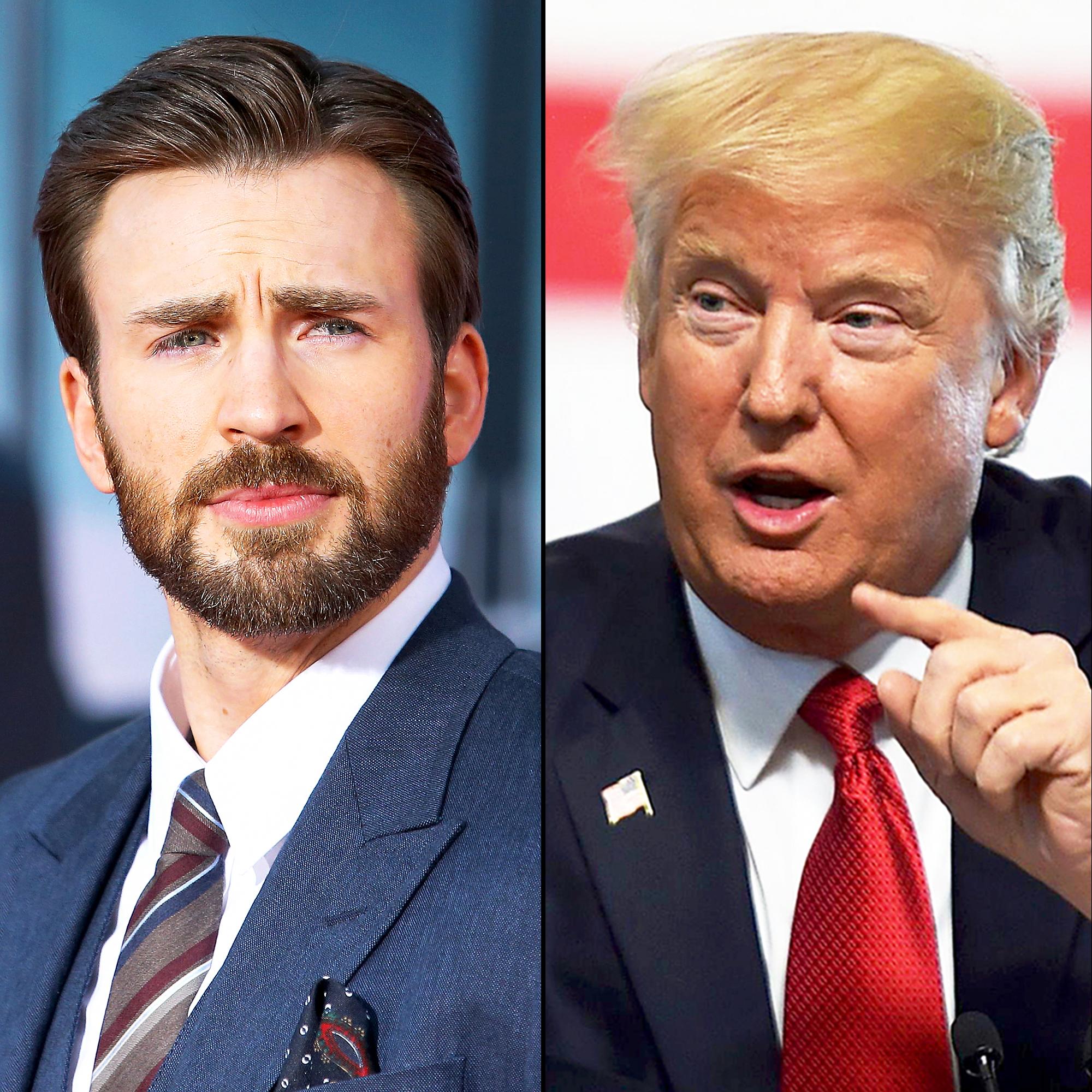 Chris Evans and Donald Trump