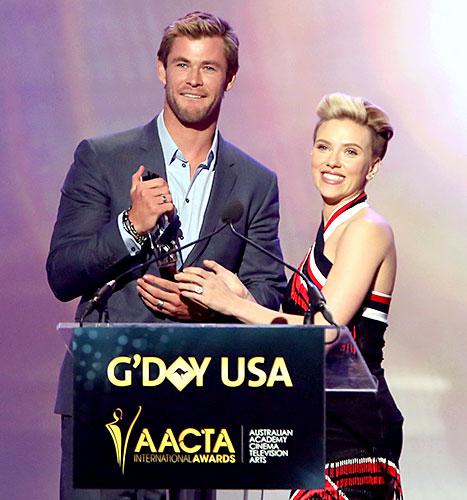 Chris Hemsworth and Scarlett Johansson - G'Day