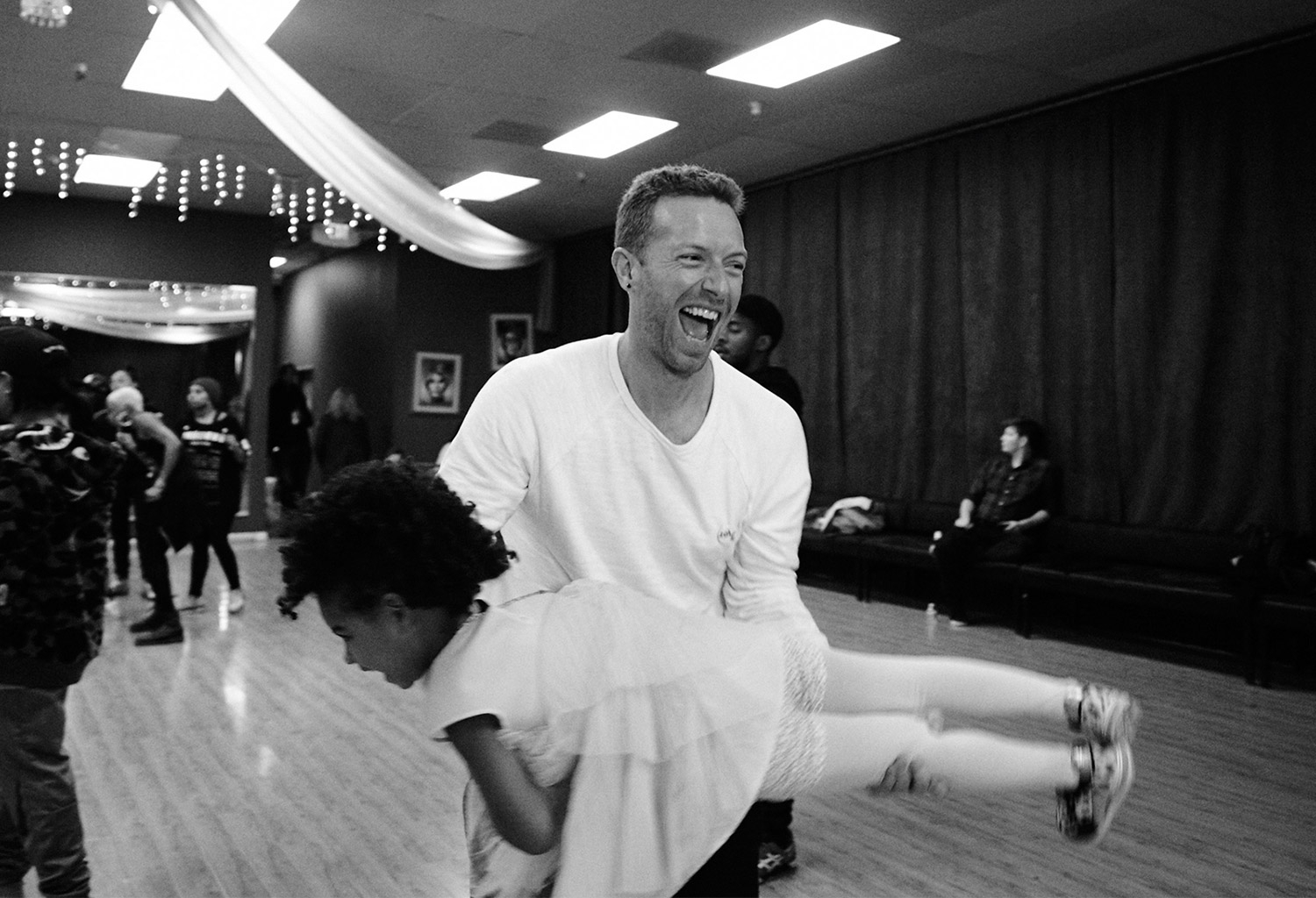 Chris Martin and Blue Ivy