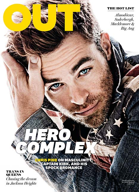 chris pine out cover