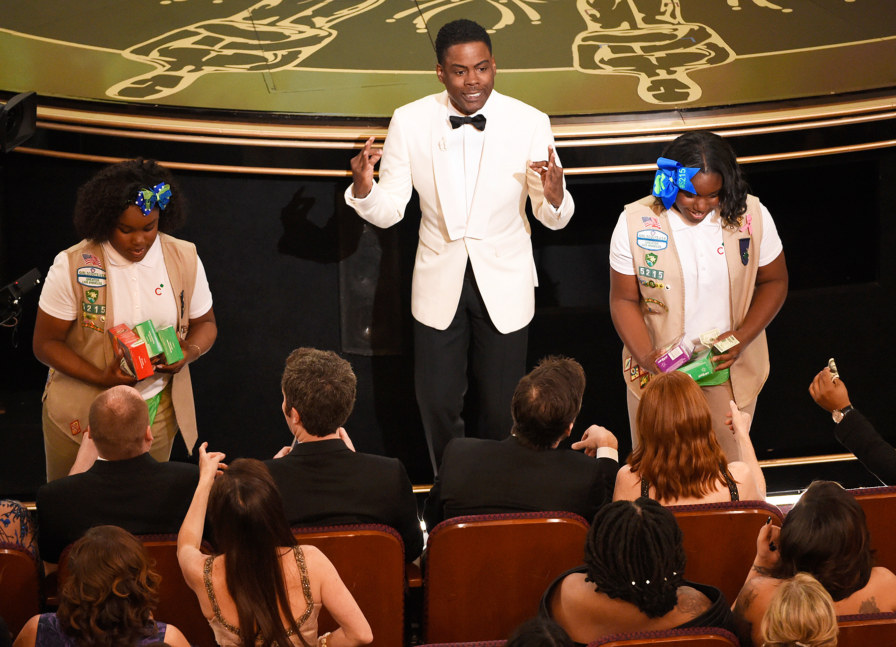 Girl Scouts and Chris Rock at Oscars 2016