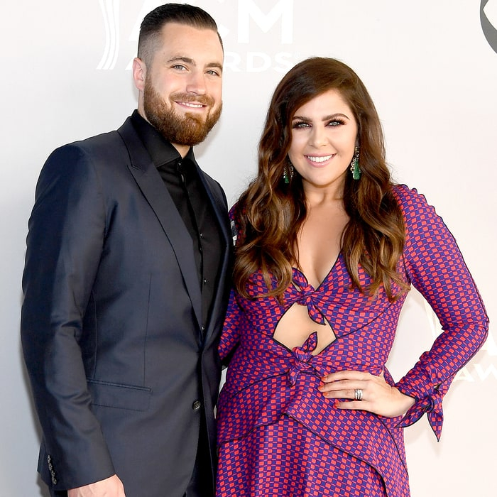 Chris Tyrrell and Hillary Scott of Lady Antebellum attend the 52nd Academy of Country Music Awards at Toshiba Plaza on April 2, 2017 in Las Vegas, Nevada.