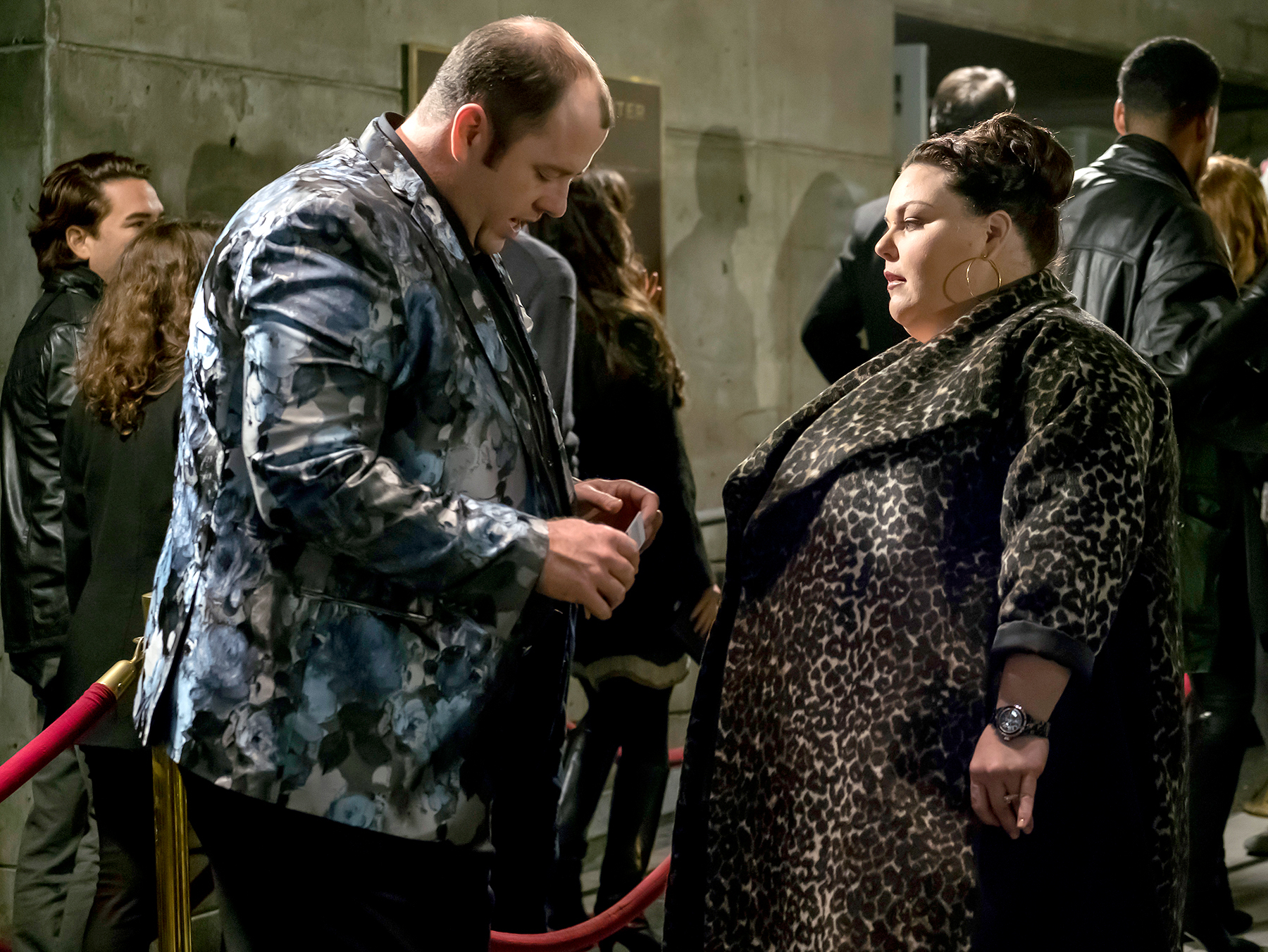 Chris Sullivan as Toby and Chrissy Metz as Kate on This Is Us.