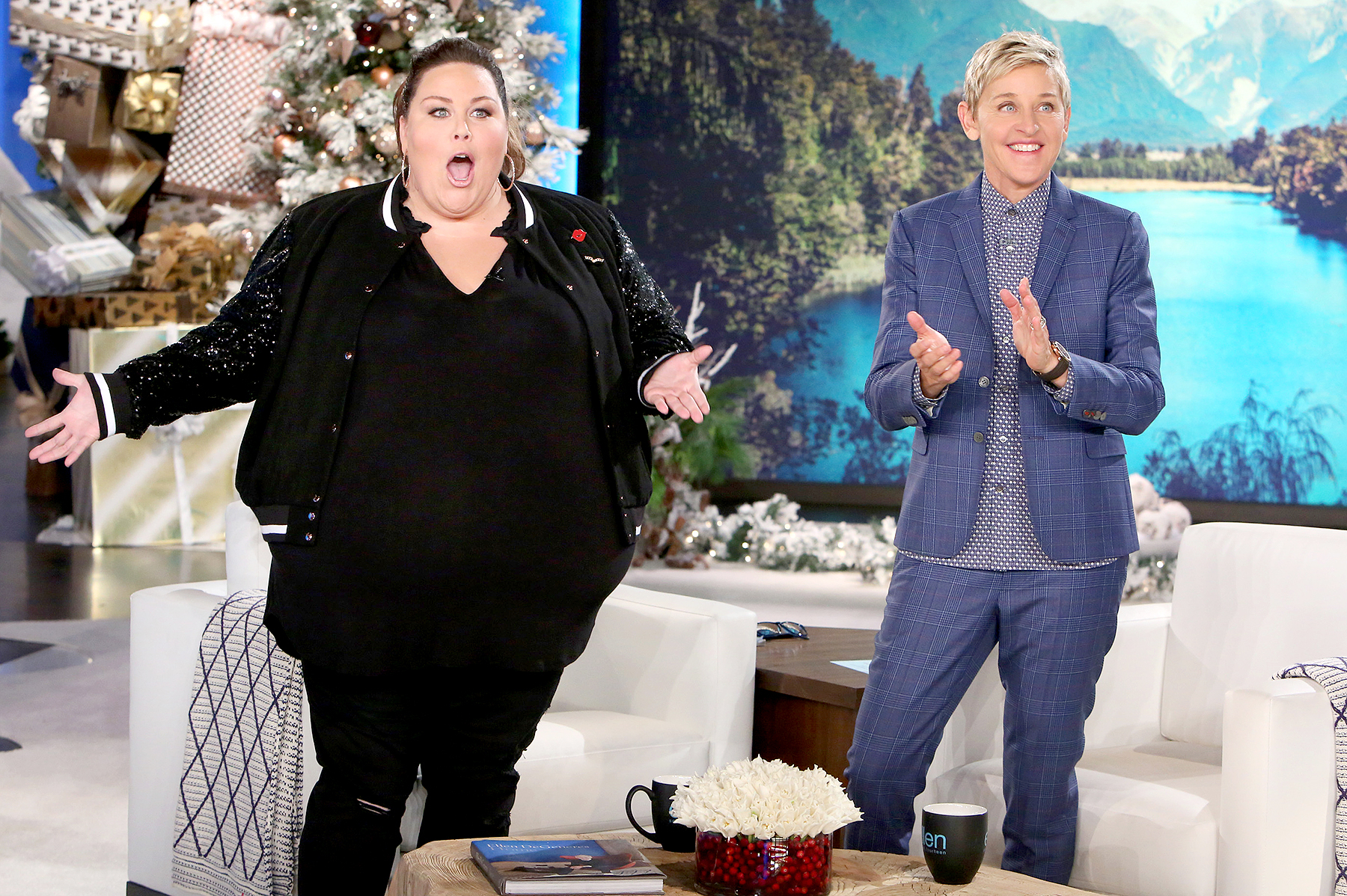Chrissy Metz and Ellen DeGeneres