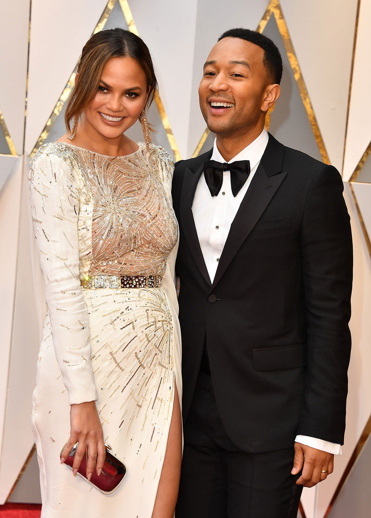 Chrissy Teigen and John Legend at the Oscars 2017