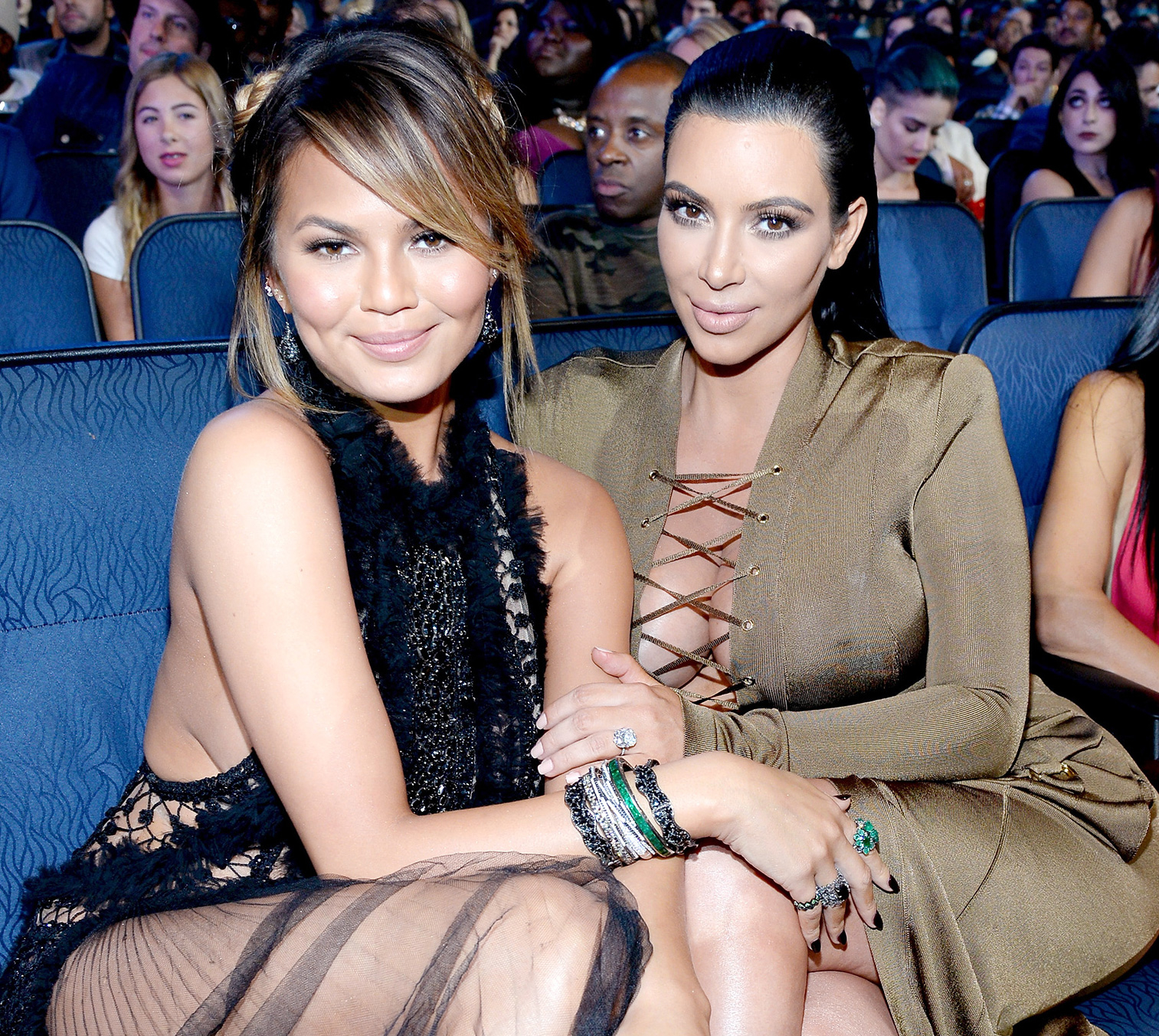 Chrissy Teigen and Kim Kardashian West
