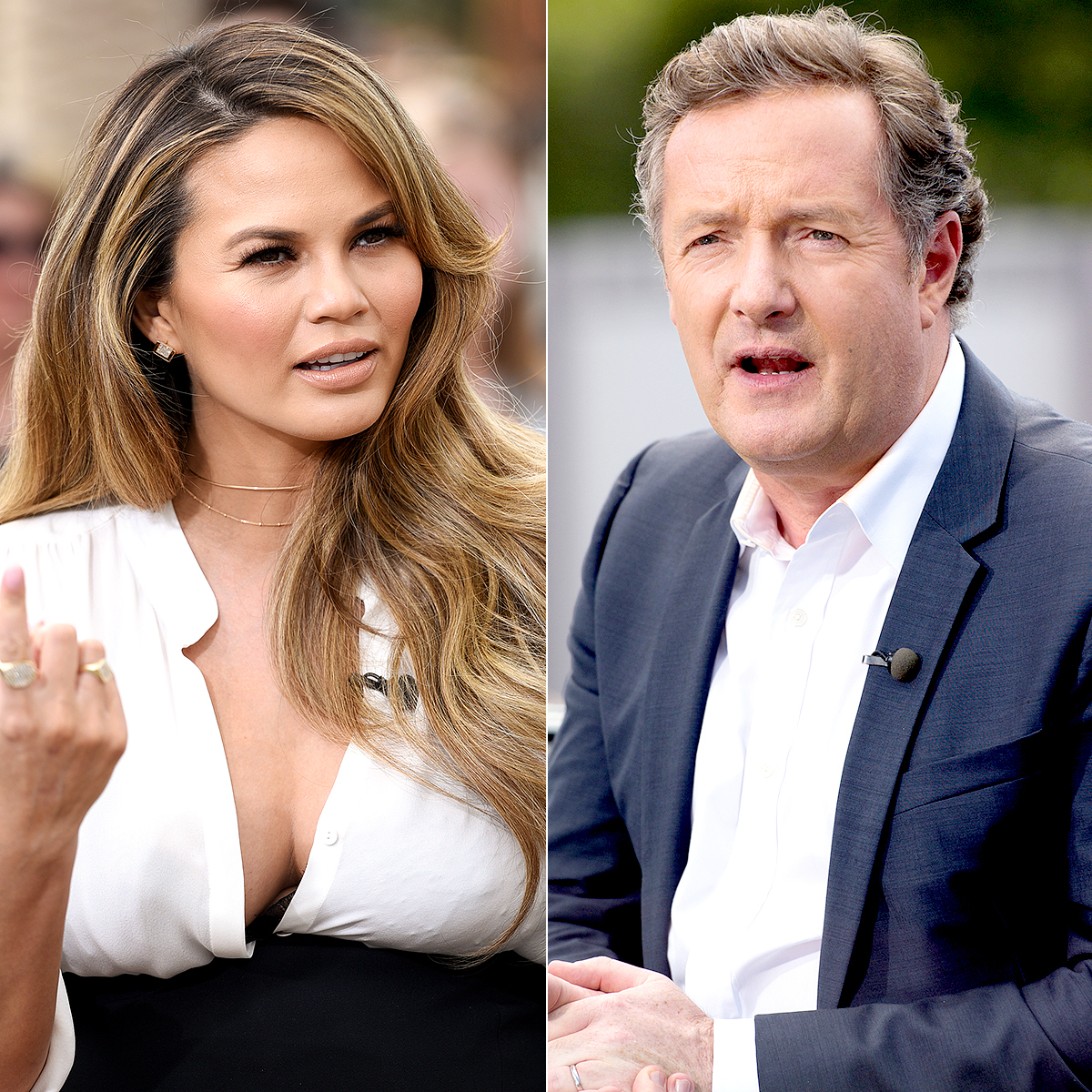 Chrissy Teigen and Piers Morgan