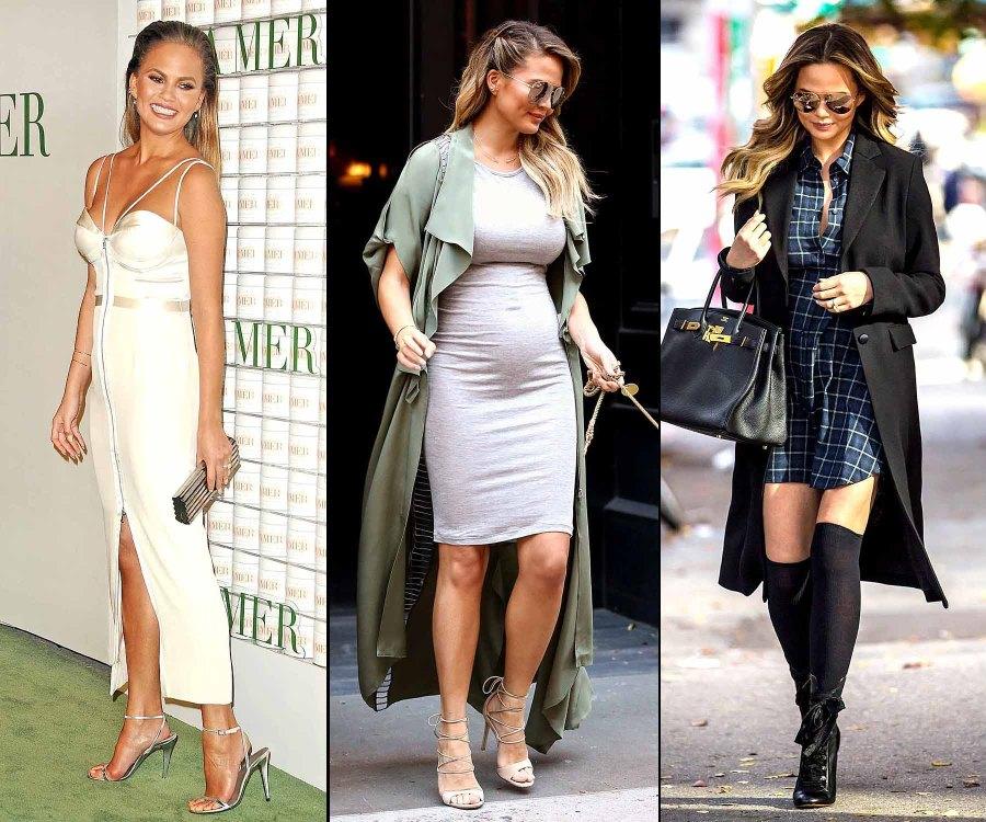 Chrissy Teigen's Pregnancy Style