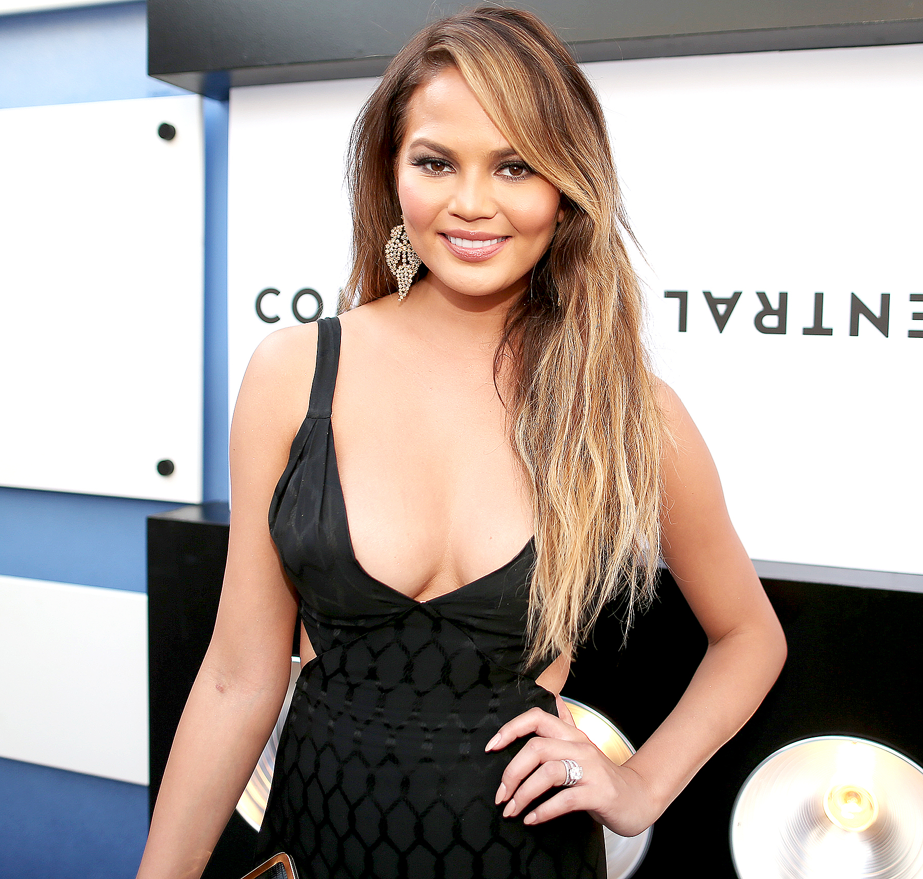 Chrissy Teigen attends The Comedy Central Roast of Justin Bieber at Sony Pictures Studios on March 14, 2015 in Los Angeles, California.