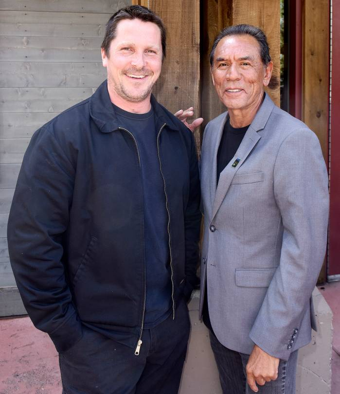 Christian Bale and Wes Studi attend the Telluride Film Festival 2017 on September 3, 2017 in Telluride, Colorado.