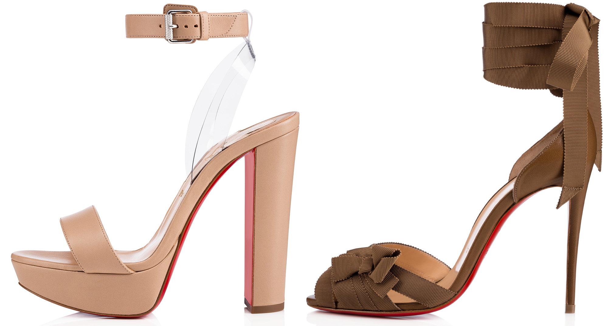 check out f8f69 e2ea0 Christian Louboutin Is Adding High Heel Sandals to His Nudes ...