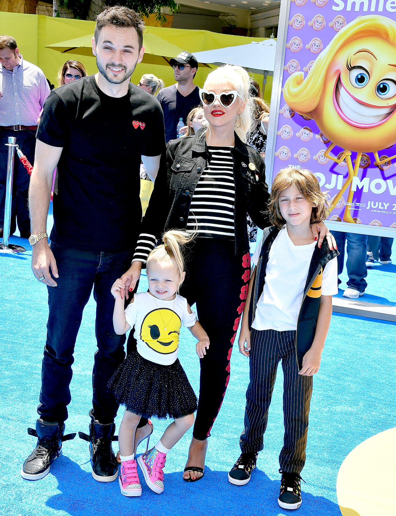 """Christina Aguilera arrives at the Premiere Of Columbia Pictures And Sony Pictures Animation's """"The Emoji Movie"""" at Regency Village Theatre on July 23, 2017 in Westwood, California."""