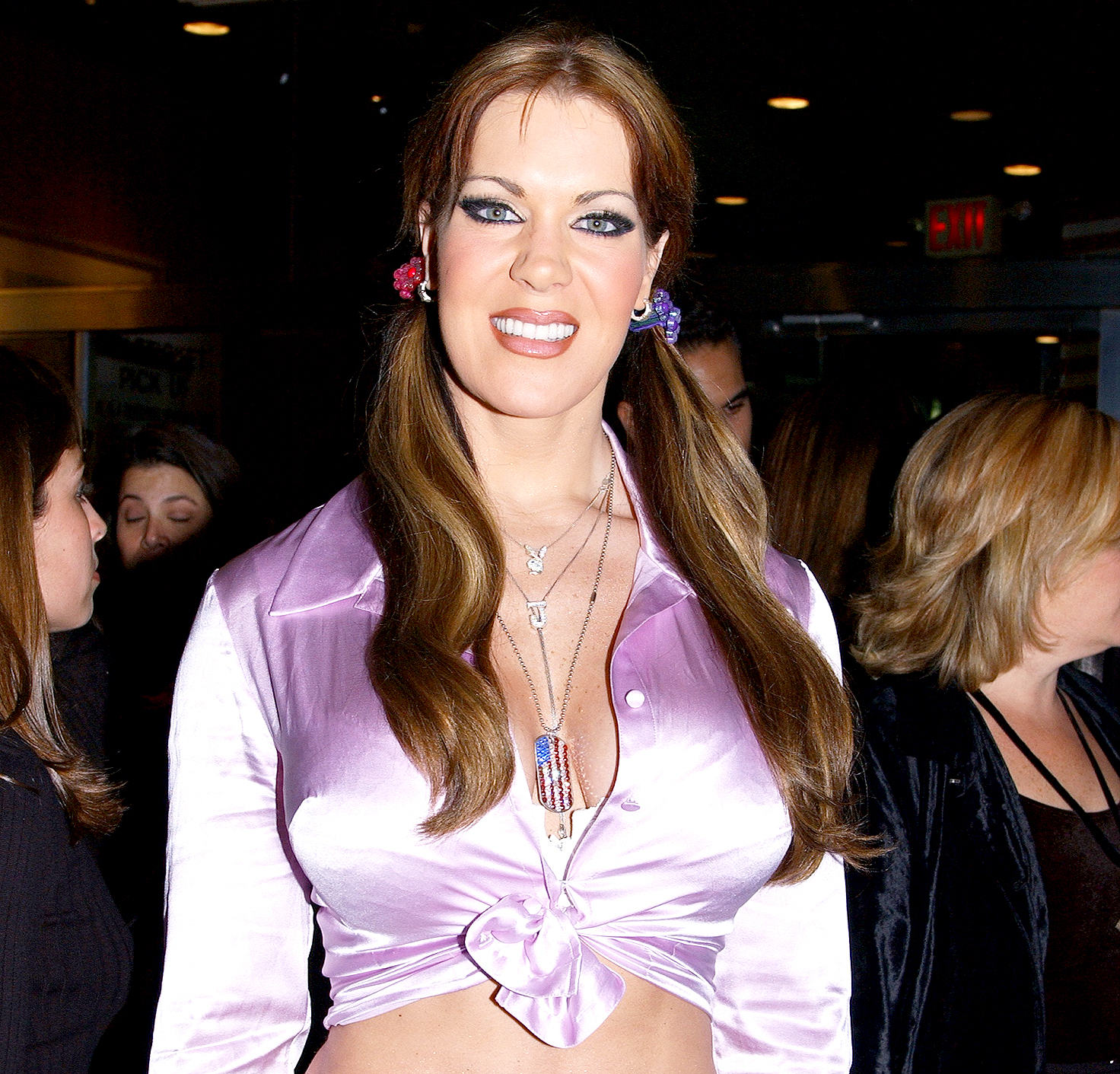 """Joanie Laurer, formerly known as """"Chyna"""" of the World Wrestling Federation, is on hand for the premiere of the new HBO documentary series """"Project Greenlight"""" at the Chelsea West Theaters on W. 23rd St. in 2001."""
