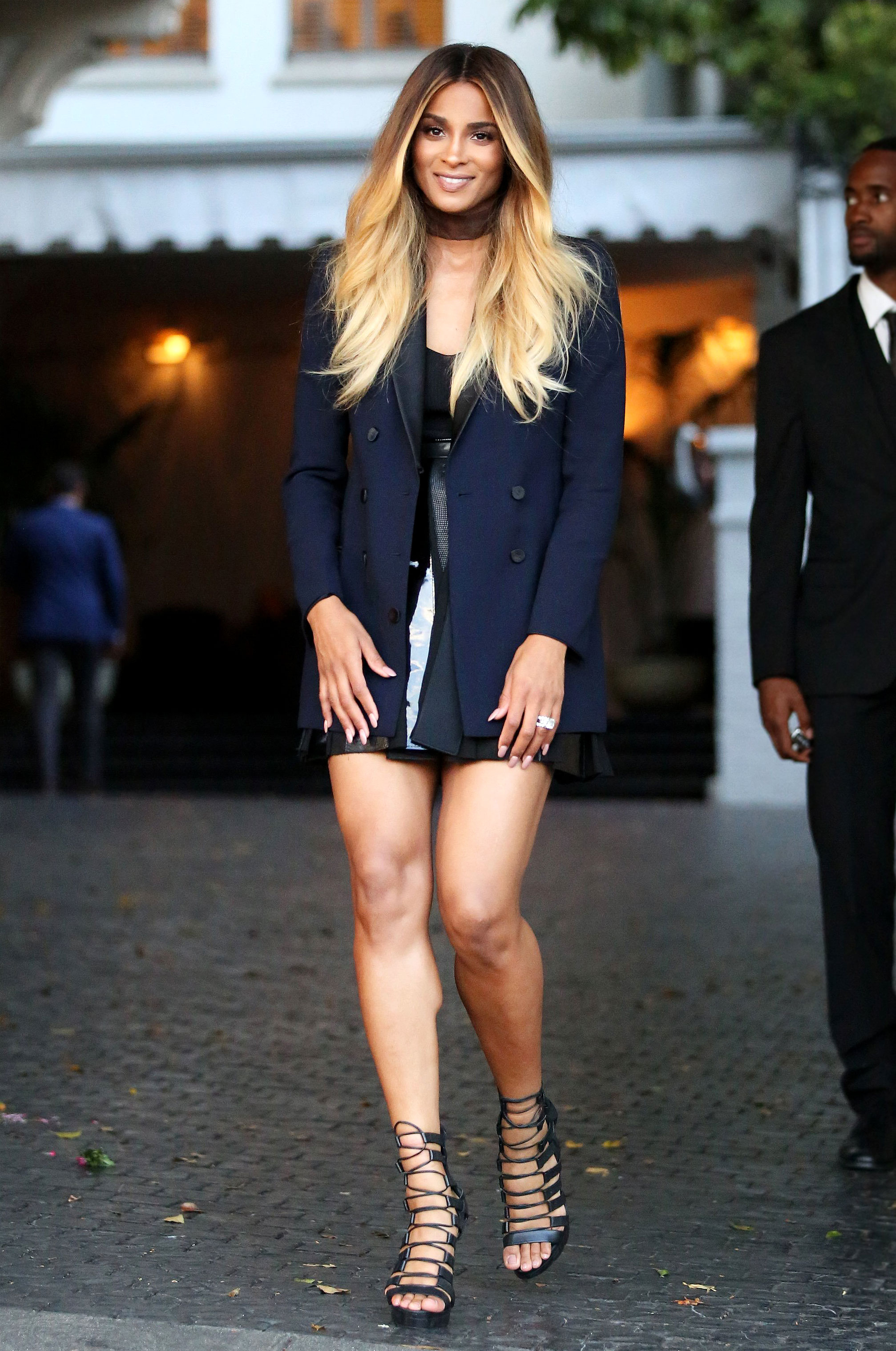 0fef081346f15 One day after announcing her pregnancy, Ciara stepped out to the CFDA/Vogue  Fashion Fund Show and Tea on October 26 in a maternity style that concealed  her ...