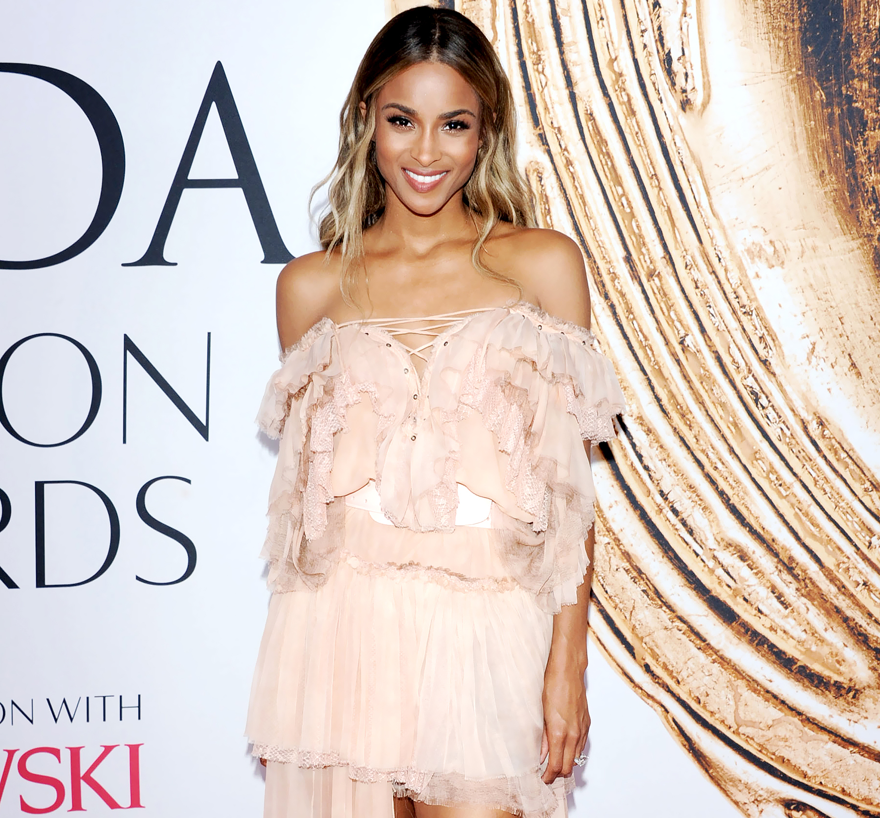 Ciara during the 2016 CFDA Awards Winners Walk, Hosted by Swarovski, held at the Hammerstein Ball Room in New York City.