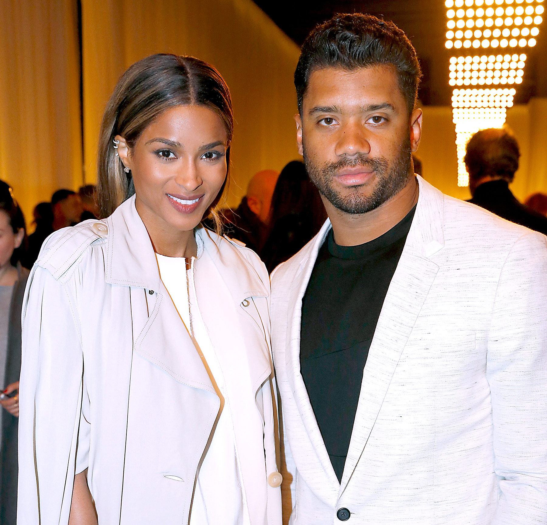 Ciara and Quaterback of Seattle Seahawks Russell Wilson attend the Lanvin show as part of the Paris Fashion Week Womenswear Fall/Winter 2016/2017 on March 3, 2016 in Paris, France.