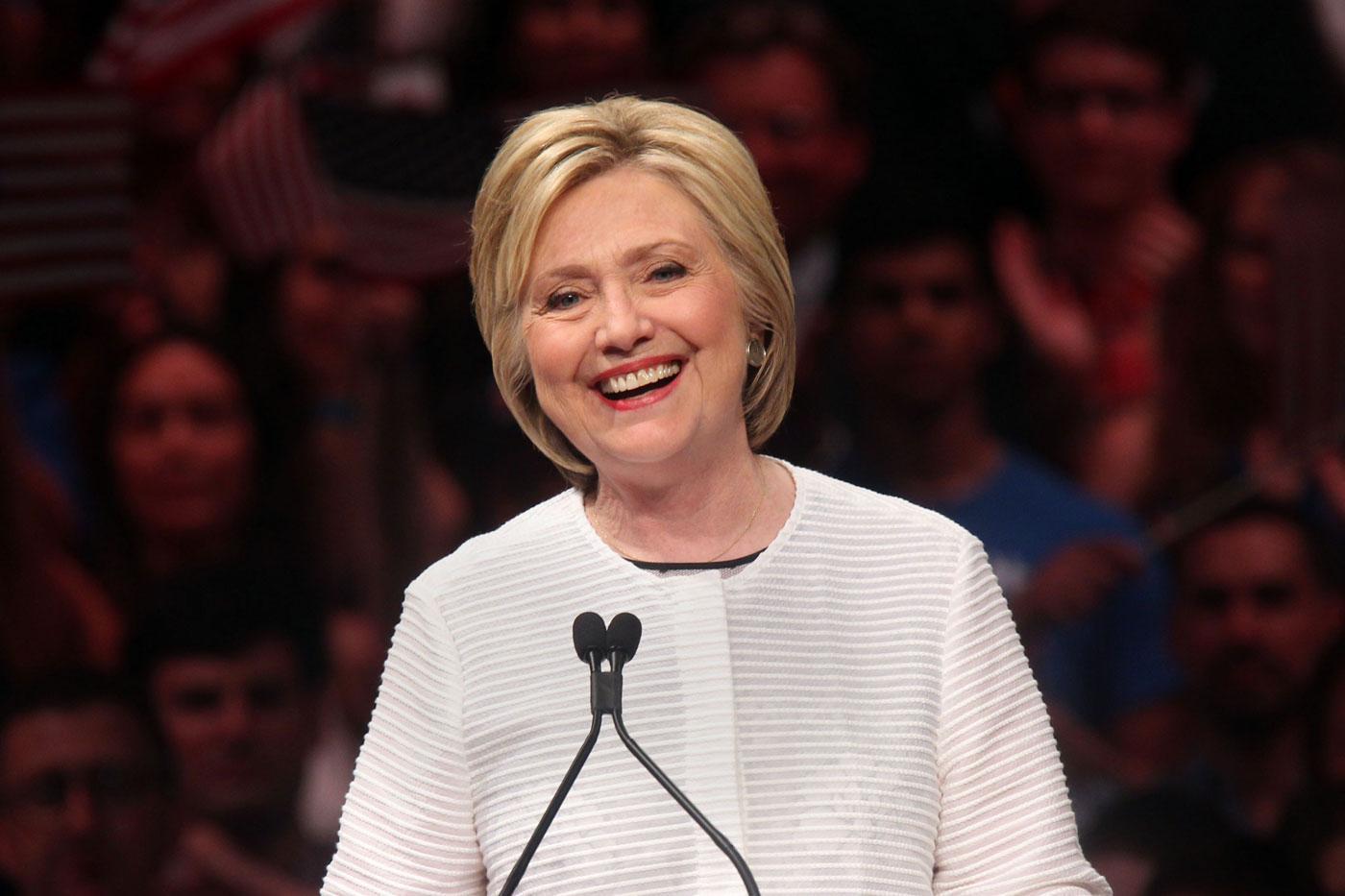 Stars react to Hillary Clinton's historic moment