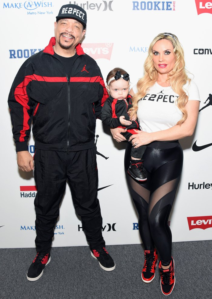 Ice-T, Chanel Nicole Marrow, and Coco Austin pose backstage at the Rookie USA fashion show during New York Fashion Week: The Shows at Gallery 3, Skylight Clarkson Sq on February 15, 2017 in New York City.