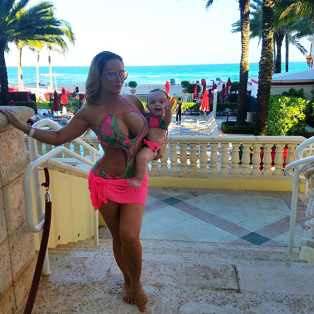 Coco Austin Chanel Matching Bathing Suits