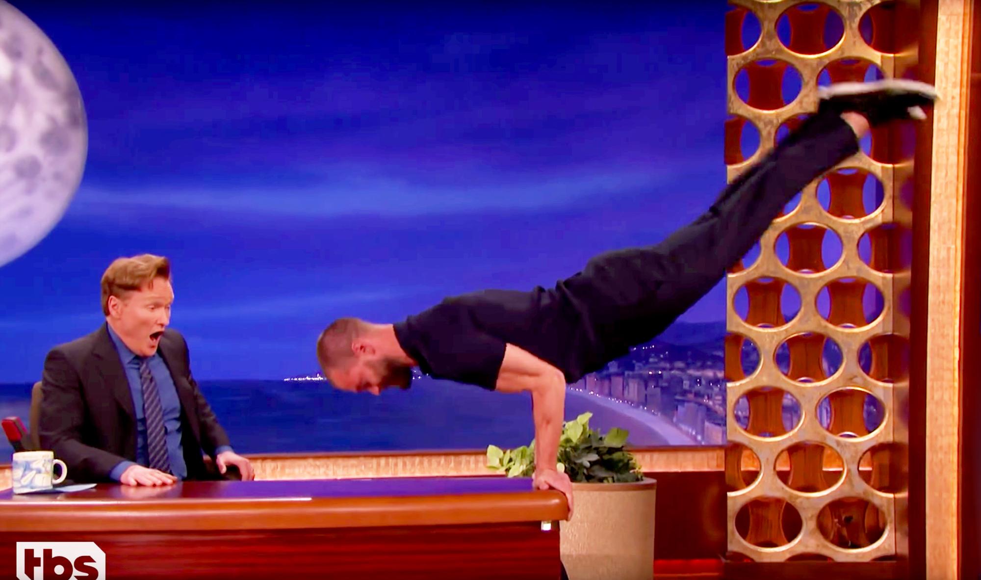 Conan O'Brien and Jamie Dornan