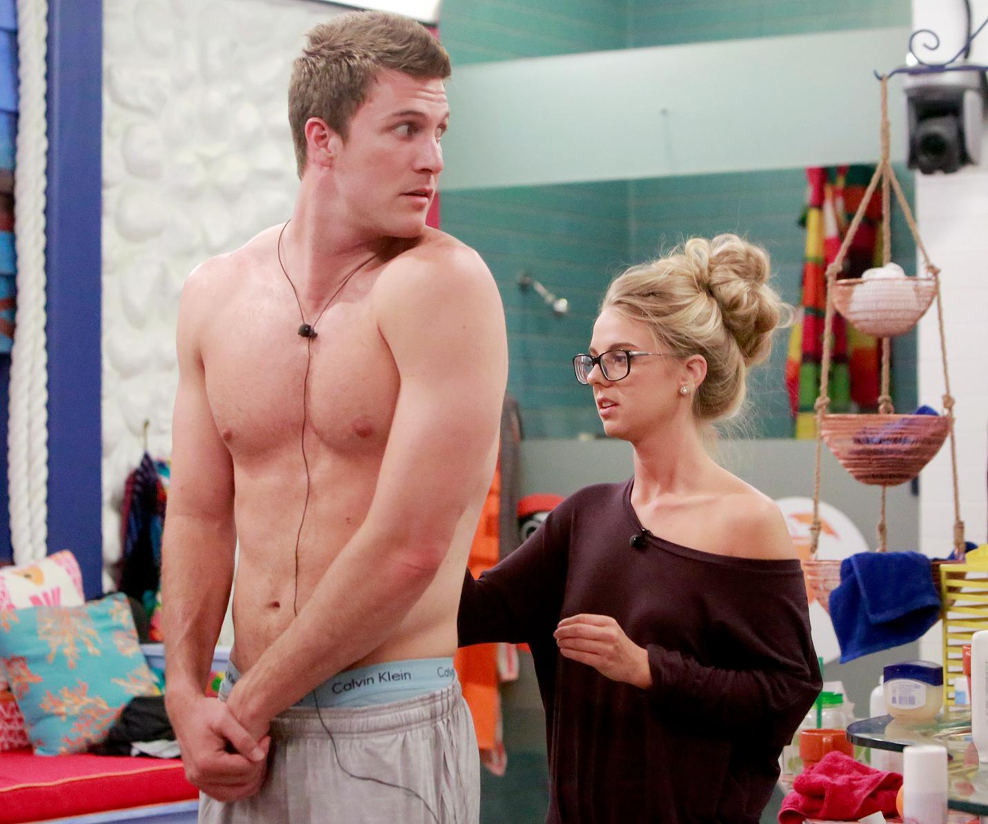 Corey Brooks and Nicole Franzel on Big Brother.
