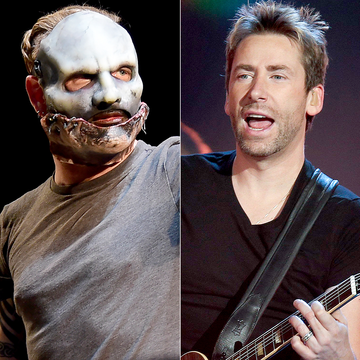 Corey Taylor of Slipknot and Nickelback of Chad Kroeger