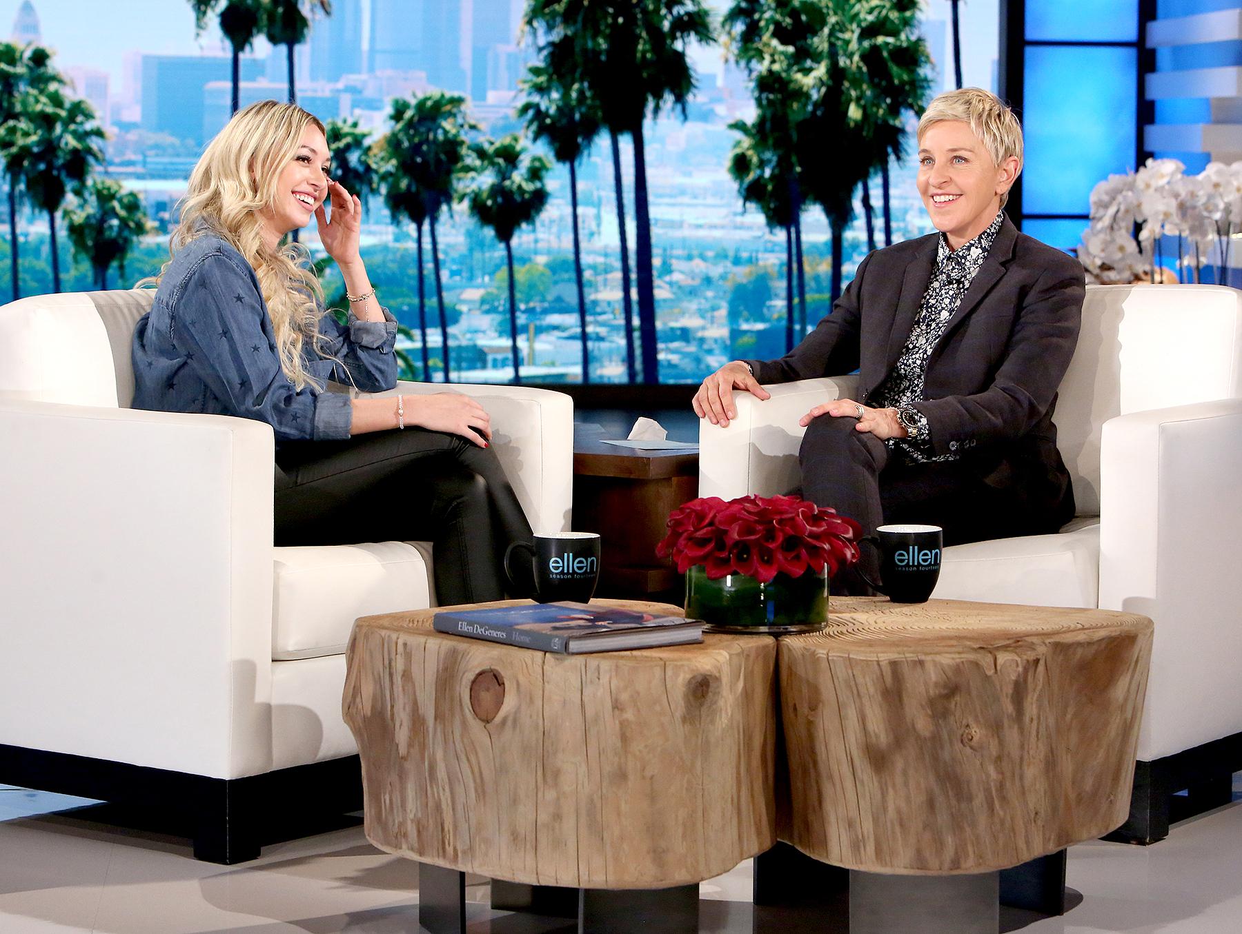 Corinne and Ellen DeGeneres