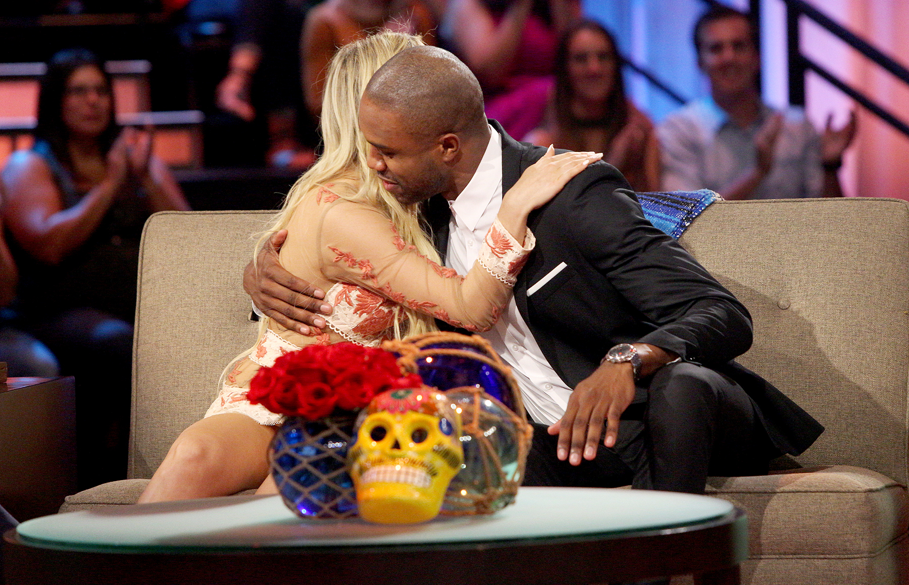 Corinne Olympios and DeMario Jackson on Bachelor In Paradise.