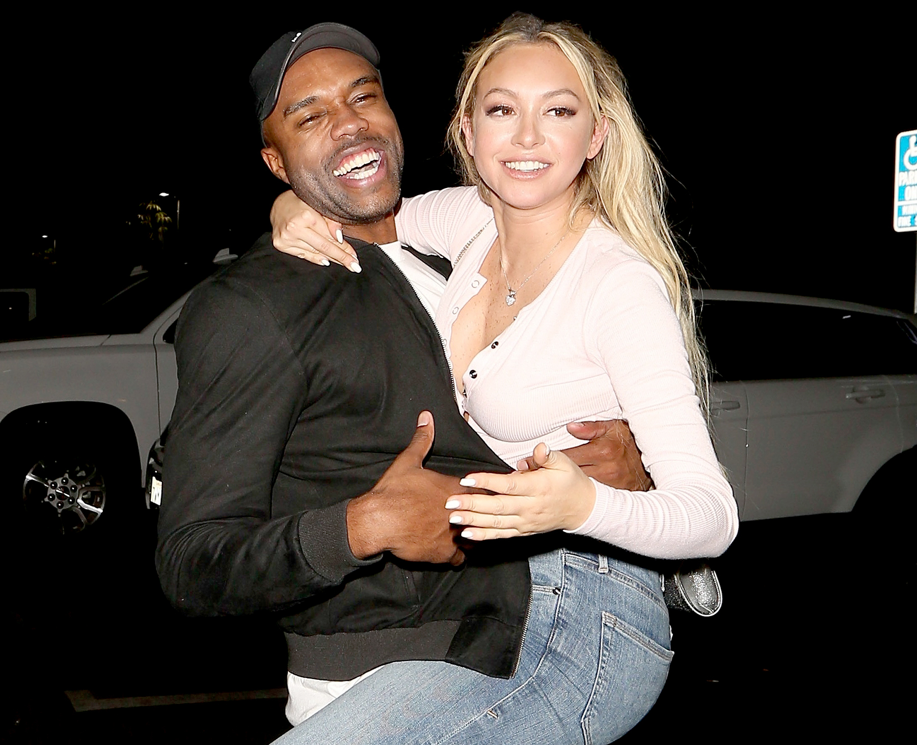 Corinne Olympios and DeMario Jackson reunite on August 30, 2017.