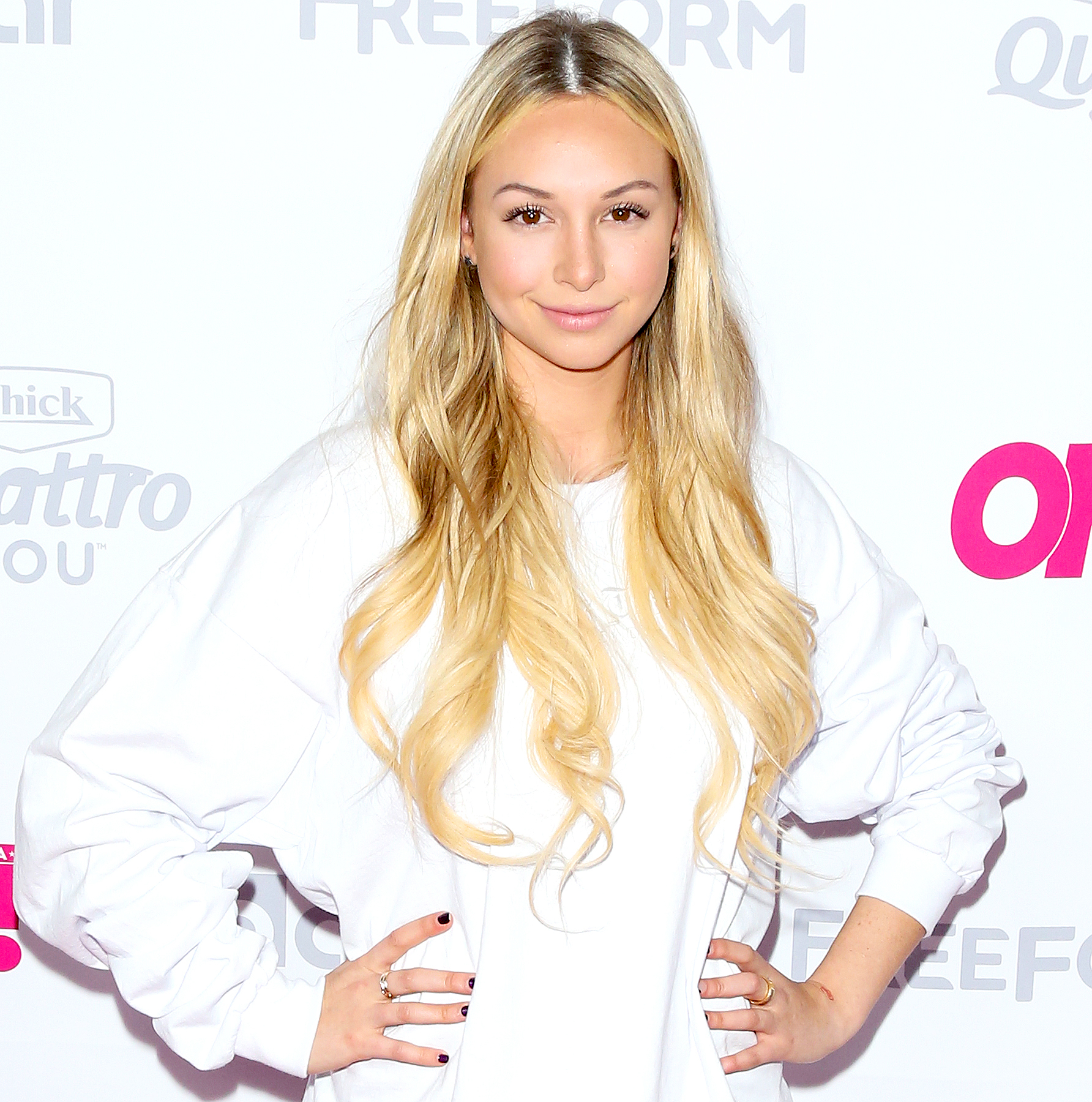 Corinne Olympios attends OK! Magazine's Summer kick-off party at The W Hollywood on May 17, 2017 in Hollywood, California.
