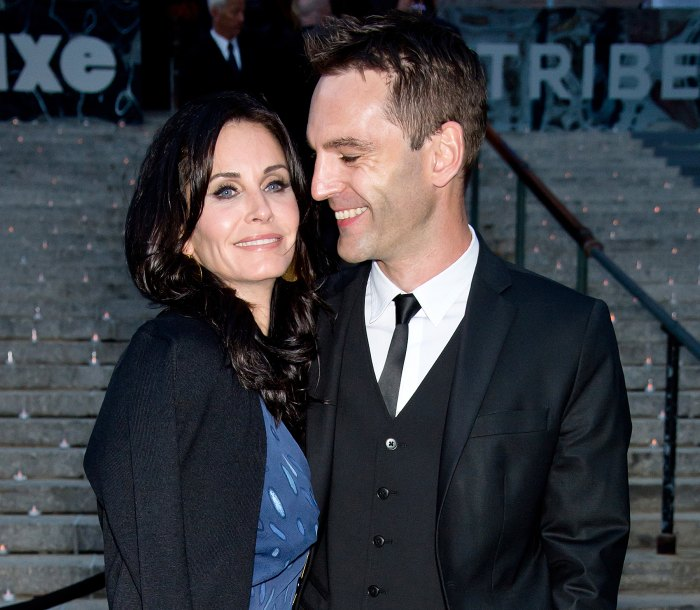 Courteney Cox and Johnny McDaid in 2014
