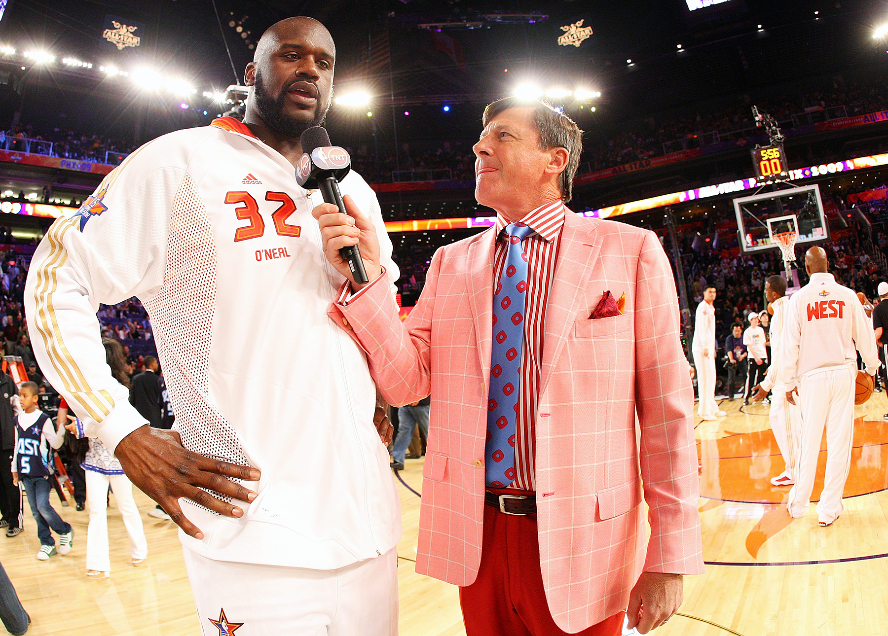 Shaquille O'Neal and Craig Sager