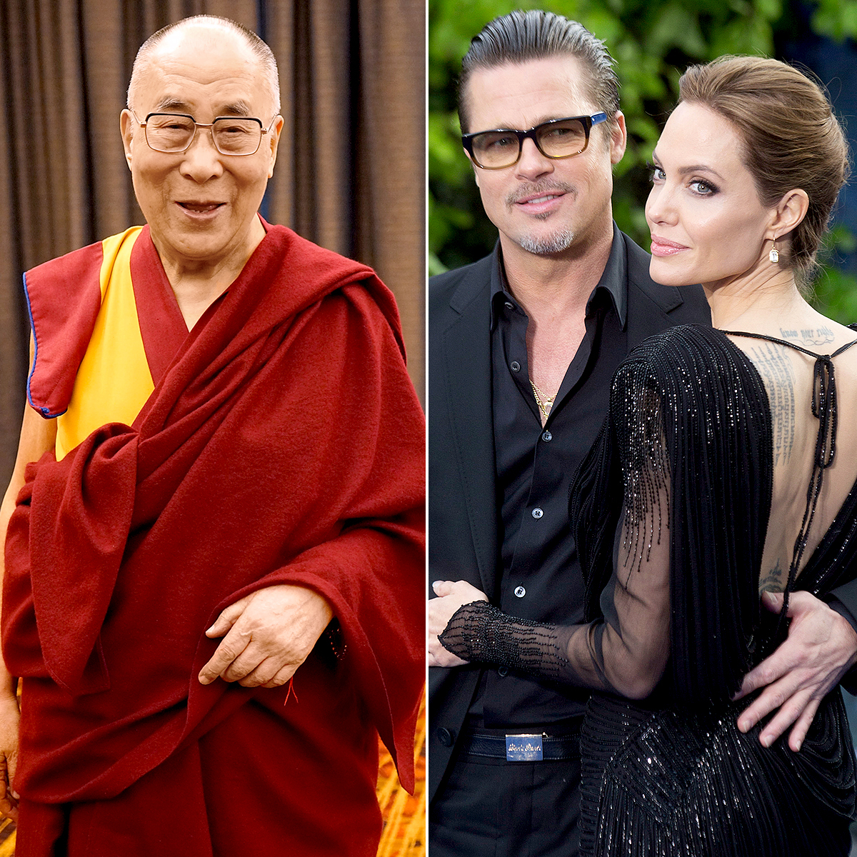 The Dalai Lama comments on Angelina Jolie and Brad Pitt's split.