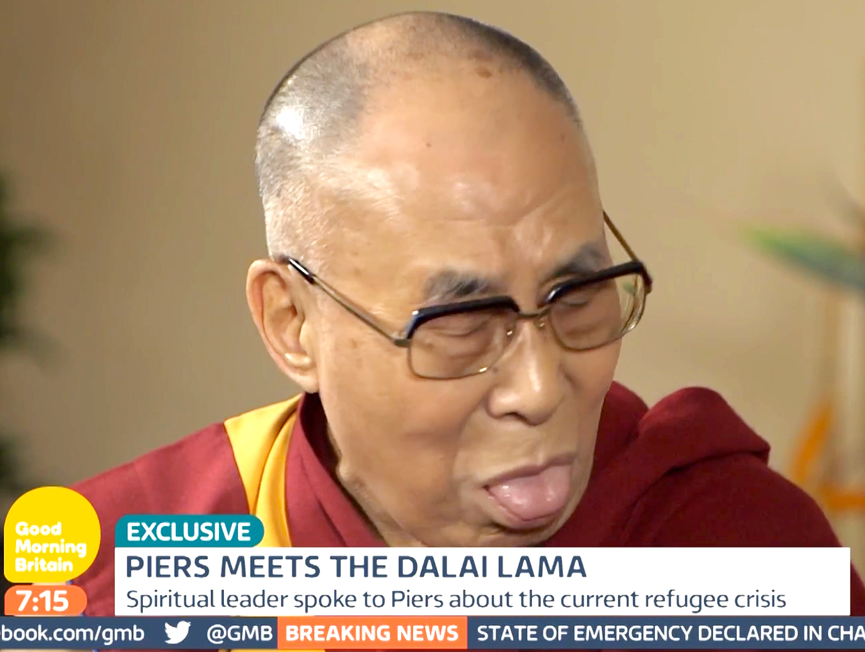 The Dalai Lama comments on Angelina Jolie and Brad Pitt's split.